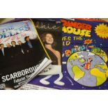 Collection of music and show posters, to include The Hollies, Elkie Brooks etc, a few with