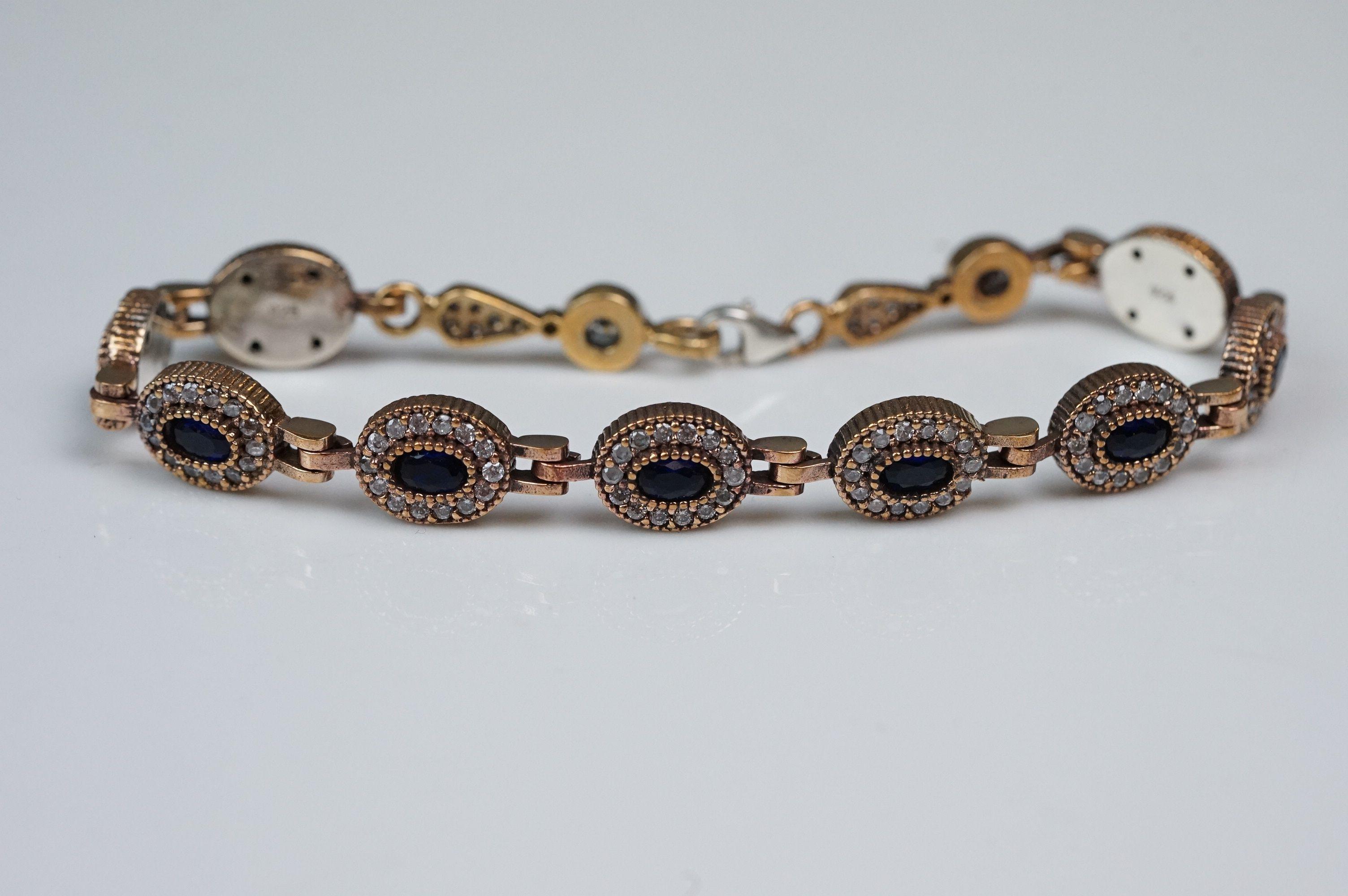 Silver and CZ set bracelet - Image 2 of 4
