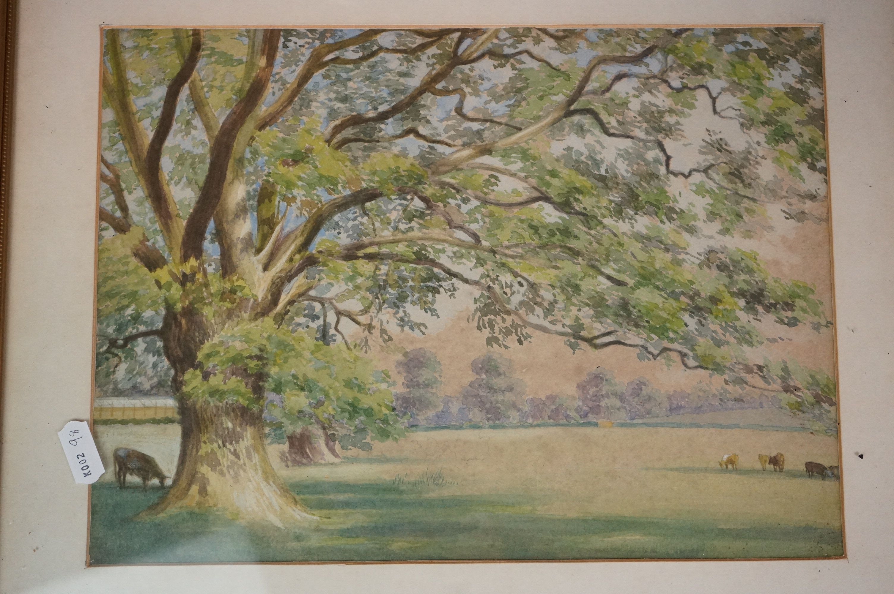 Four Watercolours including Stone Bathhouse, all in matching frames and glazed together with a group - Image 5 of 15