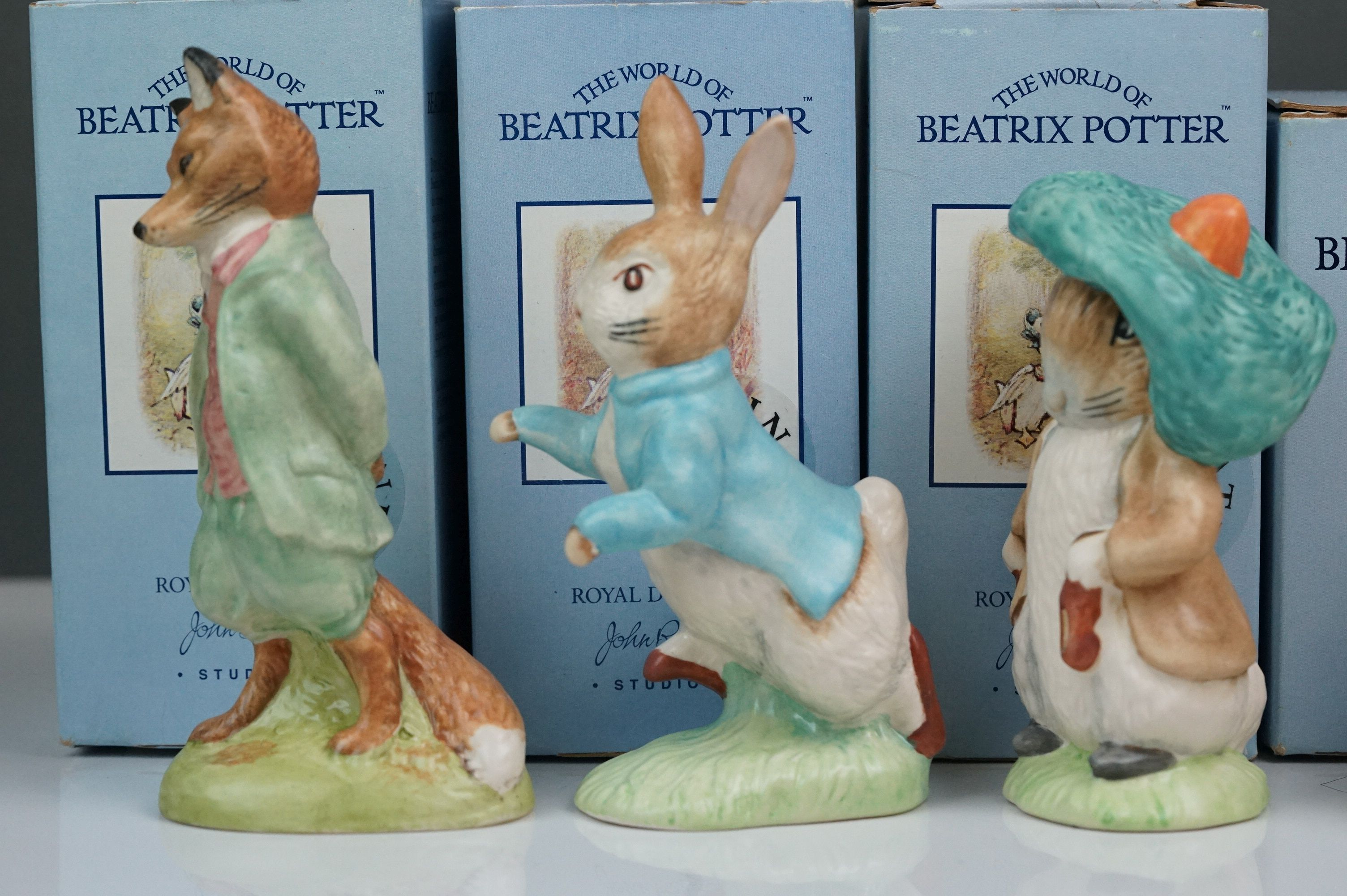 Beswick: the complete set of six satin finish figurines, all with Beswick backstamp 11A; all but one - Image 3 of 11