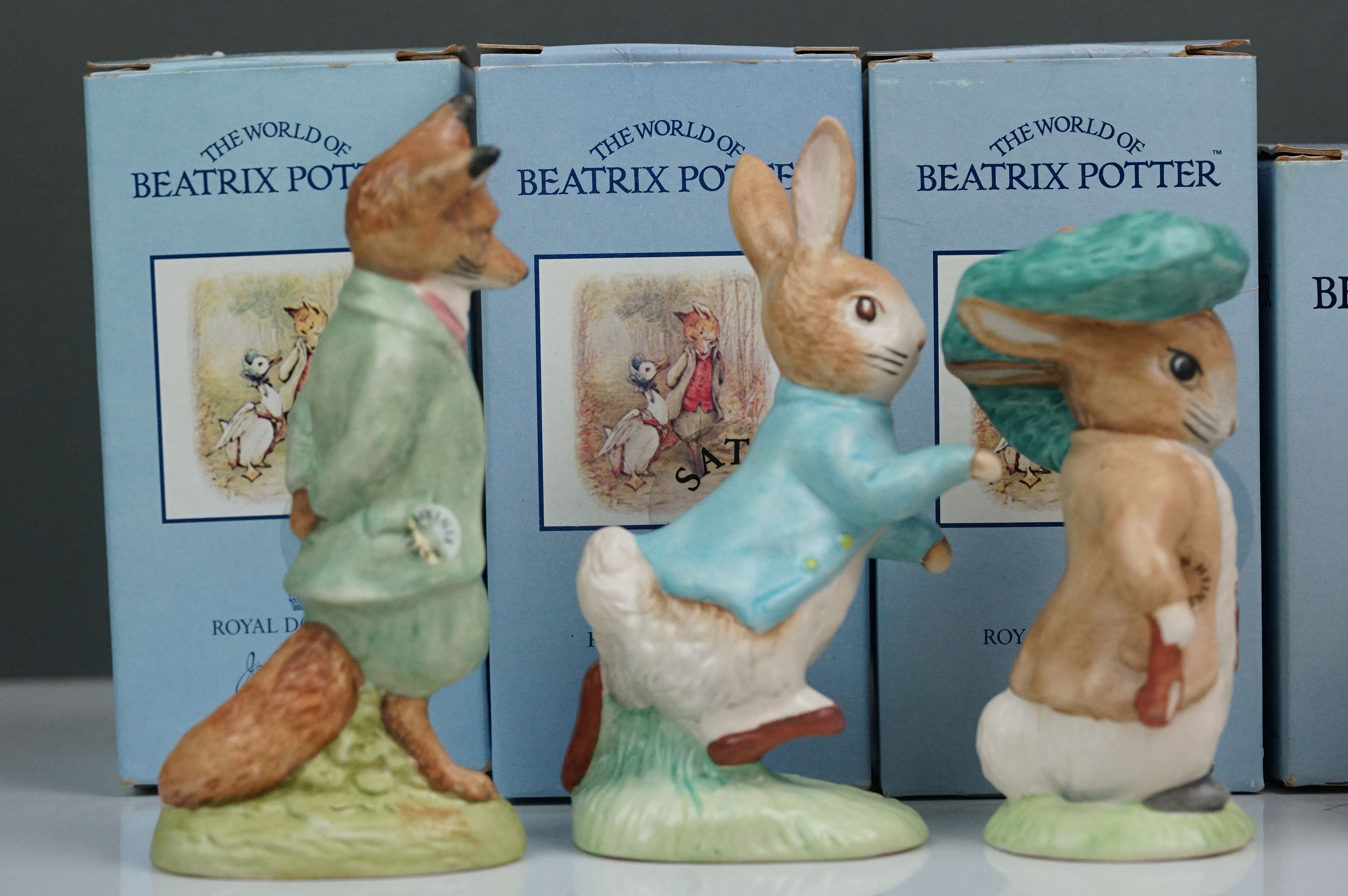 Beswick: the complete set of six satin finish figurines, all with Beswick backstamp 11A; all but one - Image 4 of 11