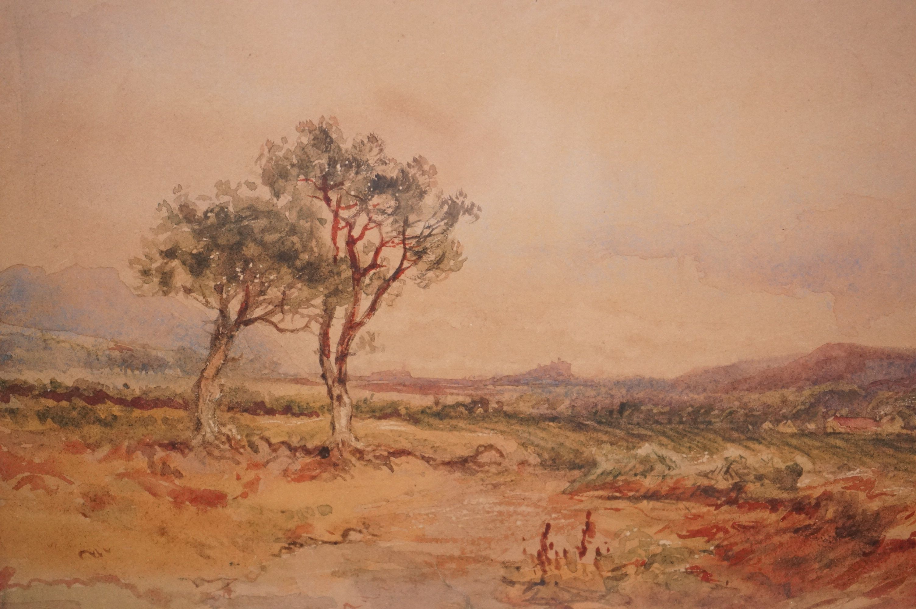 19th Century Colonial School Extensive landscape with mountains in the distance, possibly South - Image 3 of 4