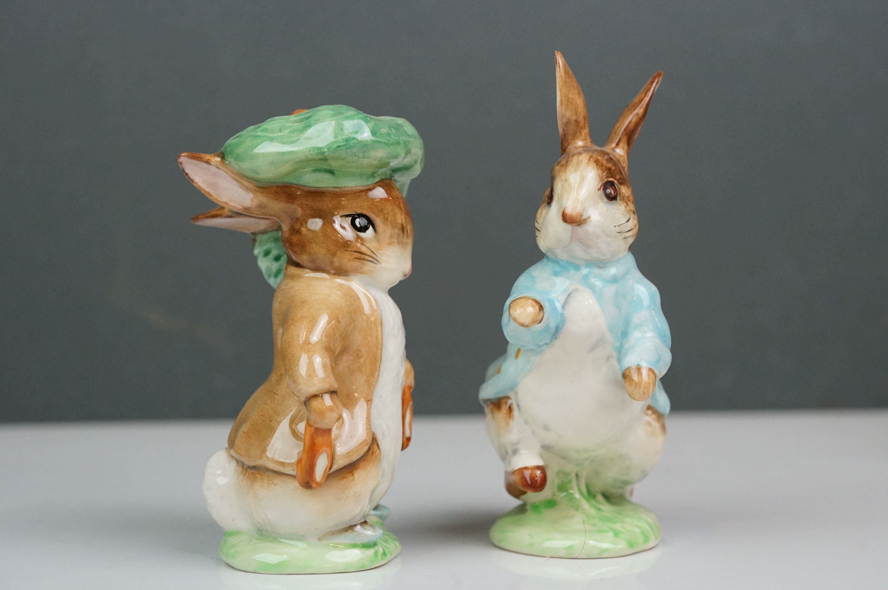 Eight Beswick Beatrix Potter figures comprising Appley Dapply; Timmy Willie; Peter Rabbit; Samuel - Image 8 of 13