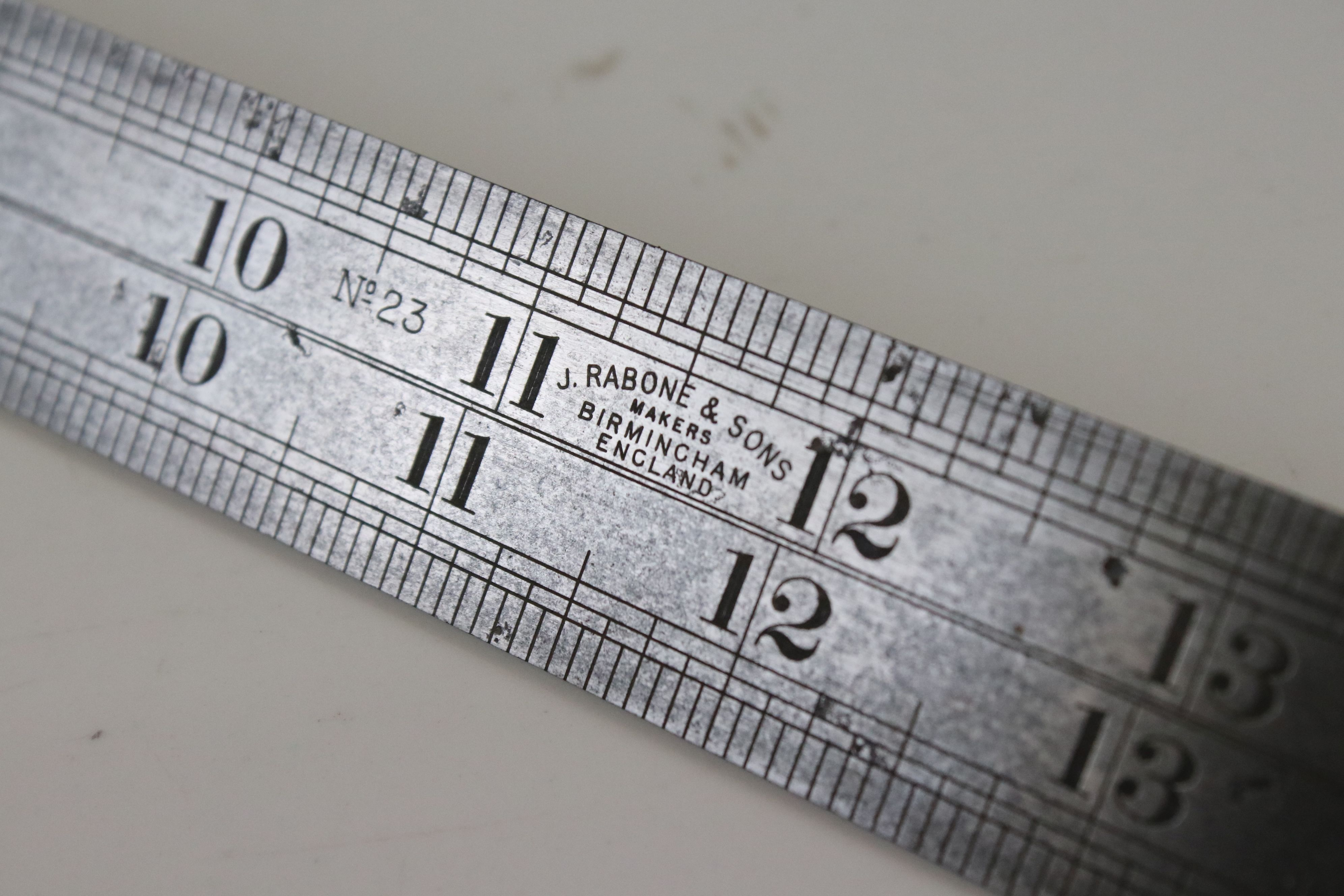 J. Rabone No.23 Steel Double Contraction / Contraction Rule, 24 inches long - Image 3 of 4
