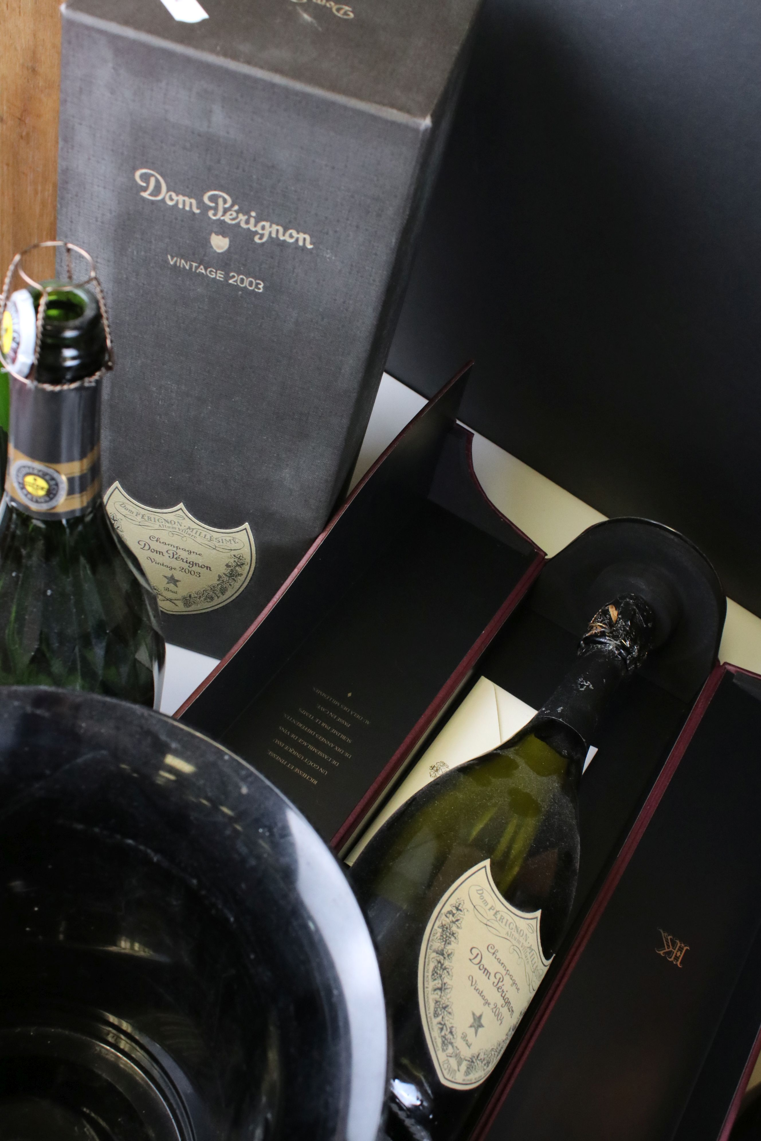 Moet & Chandon Top Hat Ice Bucket together with Five Further Ice Buckets, Moet & Chandon Glass - Image 6 of 8