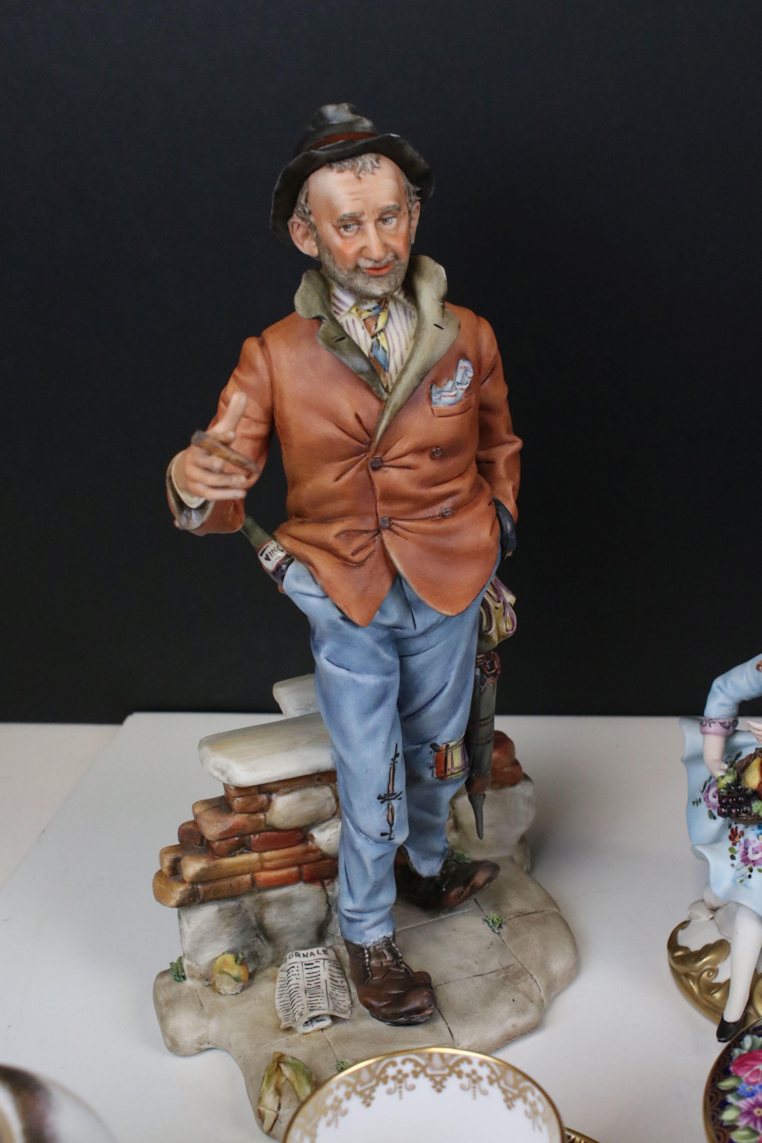 Mixed lot of Ceramics including Four Capodimonte Figures, Royal Doulton ' Diana ' Figurine, Spode - Image 7 of 7