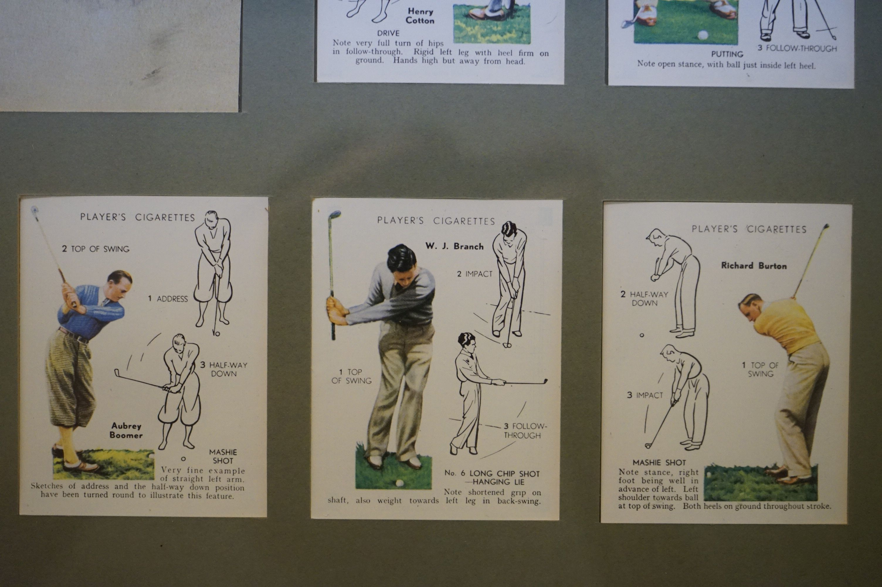 Golf - a John Player commemorative picture portraying famous golfers and their play methods - Image 4 of 6