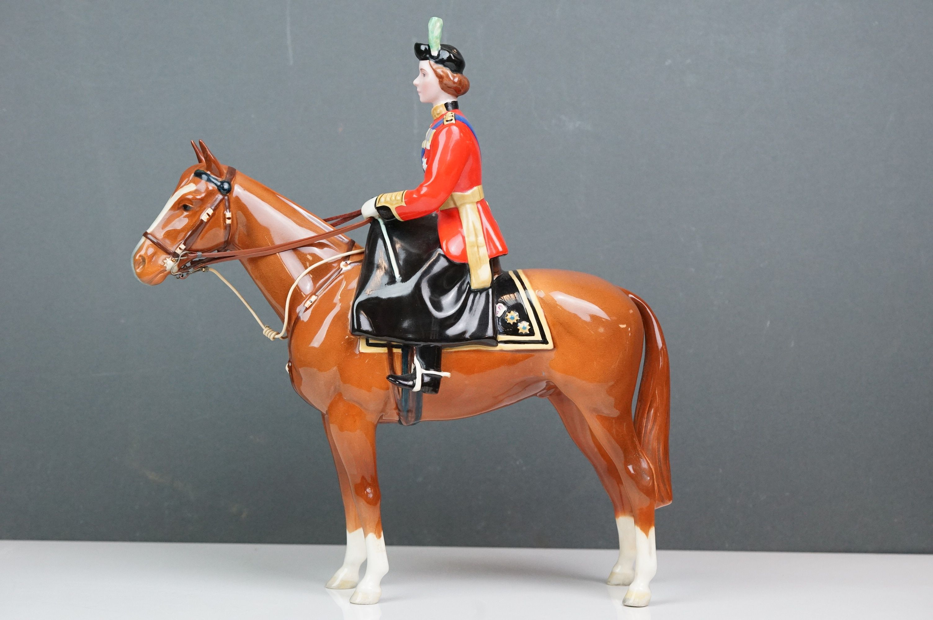 Beswick HM Queen Elizabeth II mounted on Imperial, Trooping the Colour 1957, model no. 1546 H26.5cm