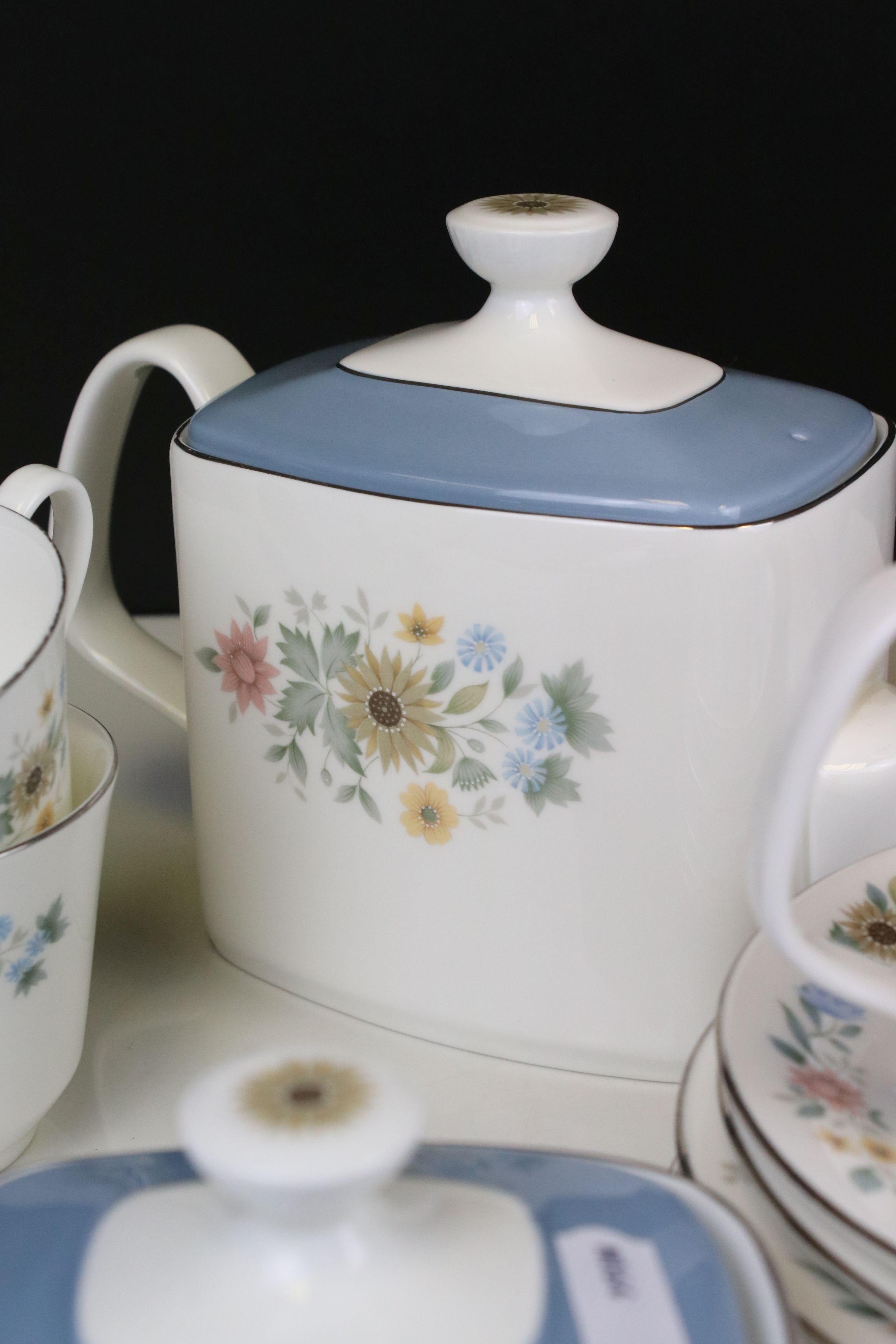 Royal Doulton ' Pastorale ' Tea Set comprising Two Teapots, Milk, Sugar, 6 Cups and 7 Saucers - Image 3 of 7
