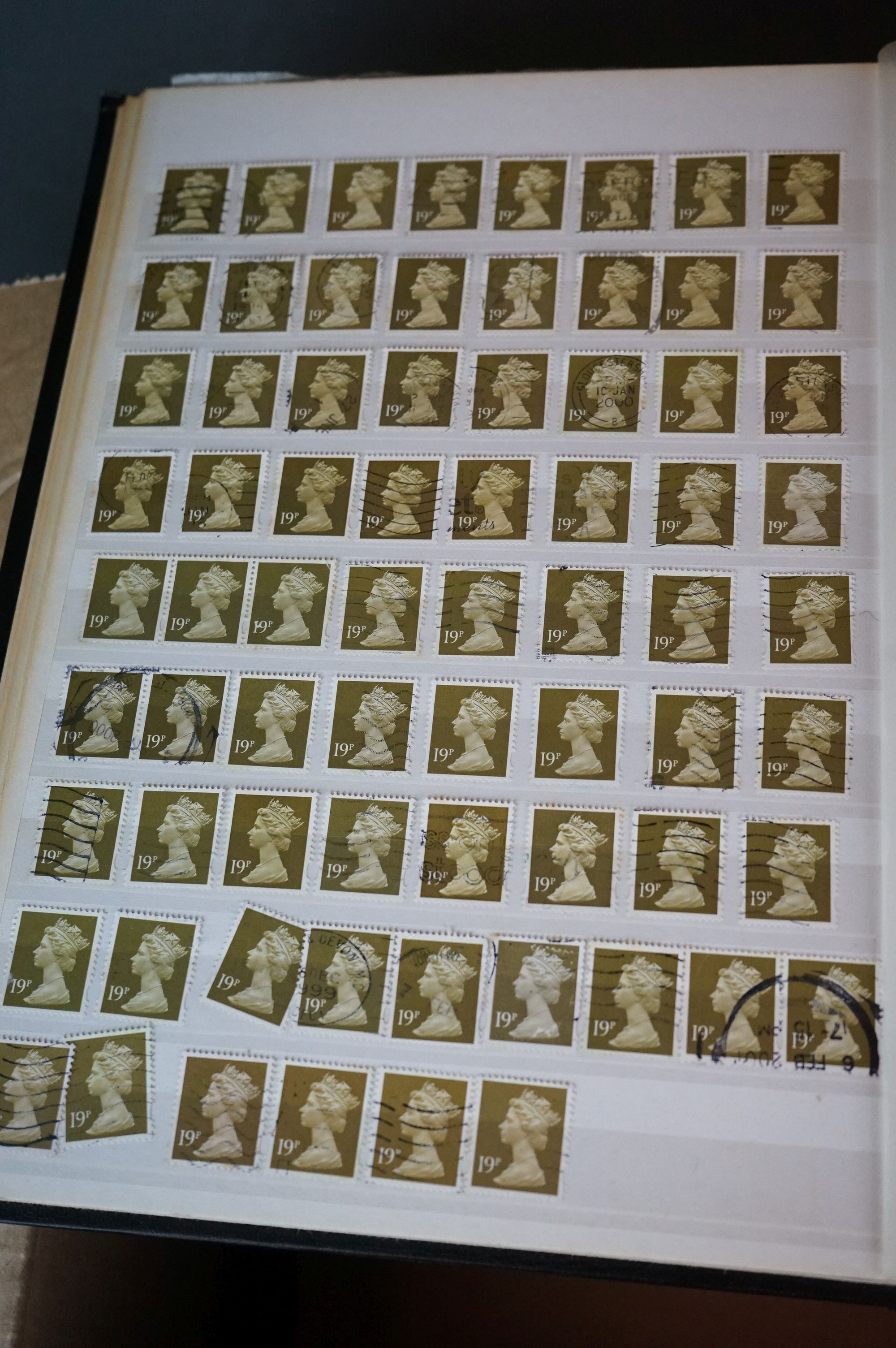 A collection of British and world stamps contained within seven albums together with a quantity of - Image 5 of 9