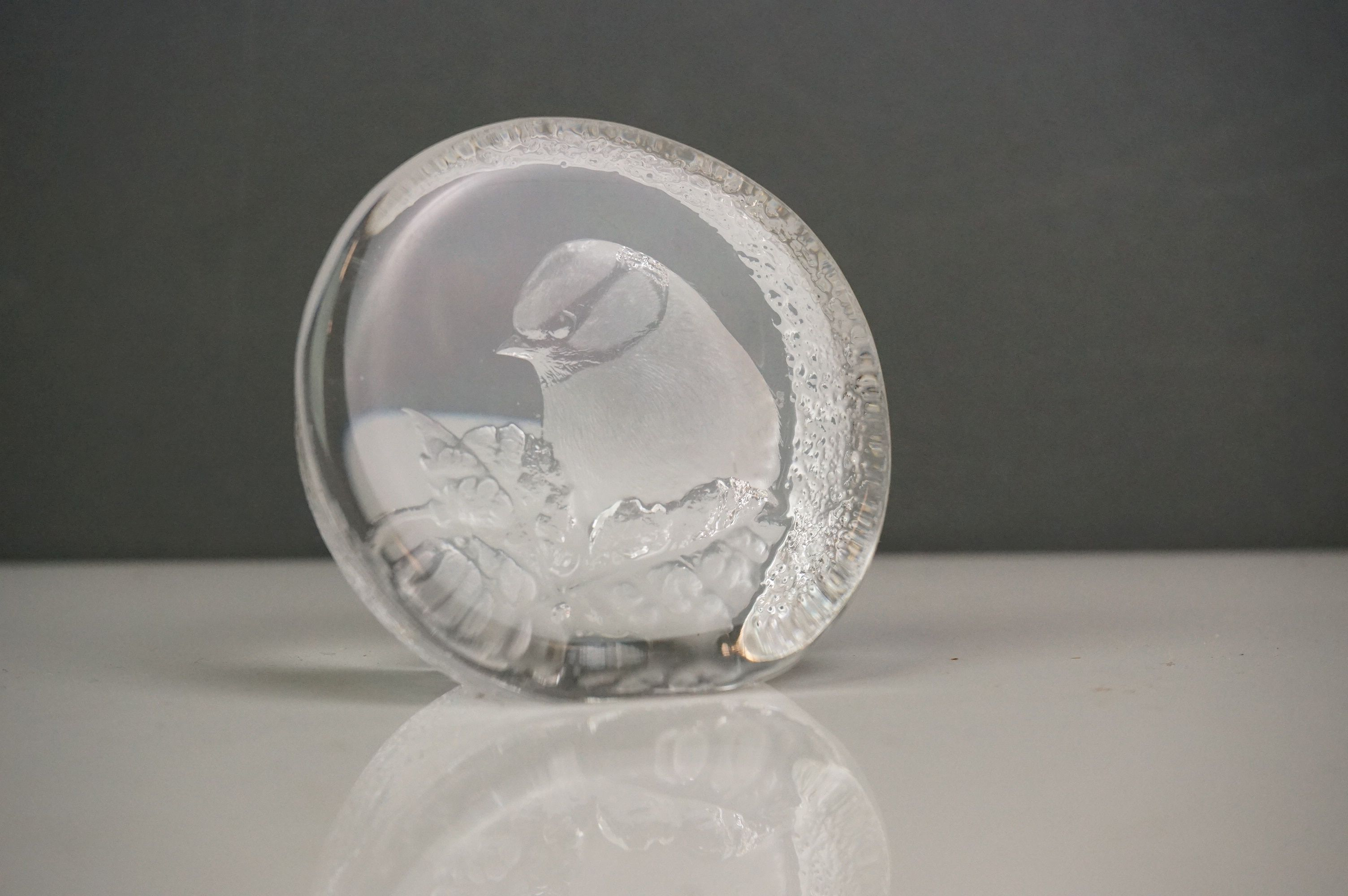 A collection of five glass animal sculptures to include a Mats Jonasson example. - Image 5 of 6