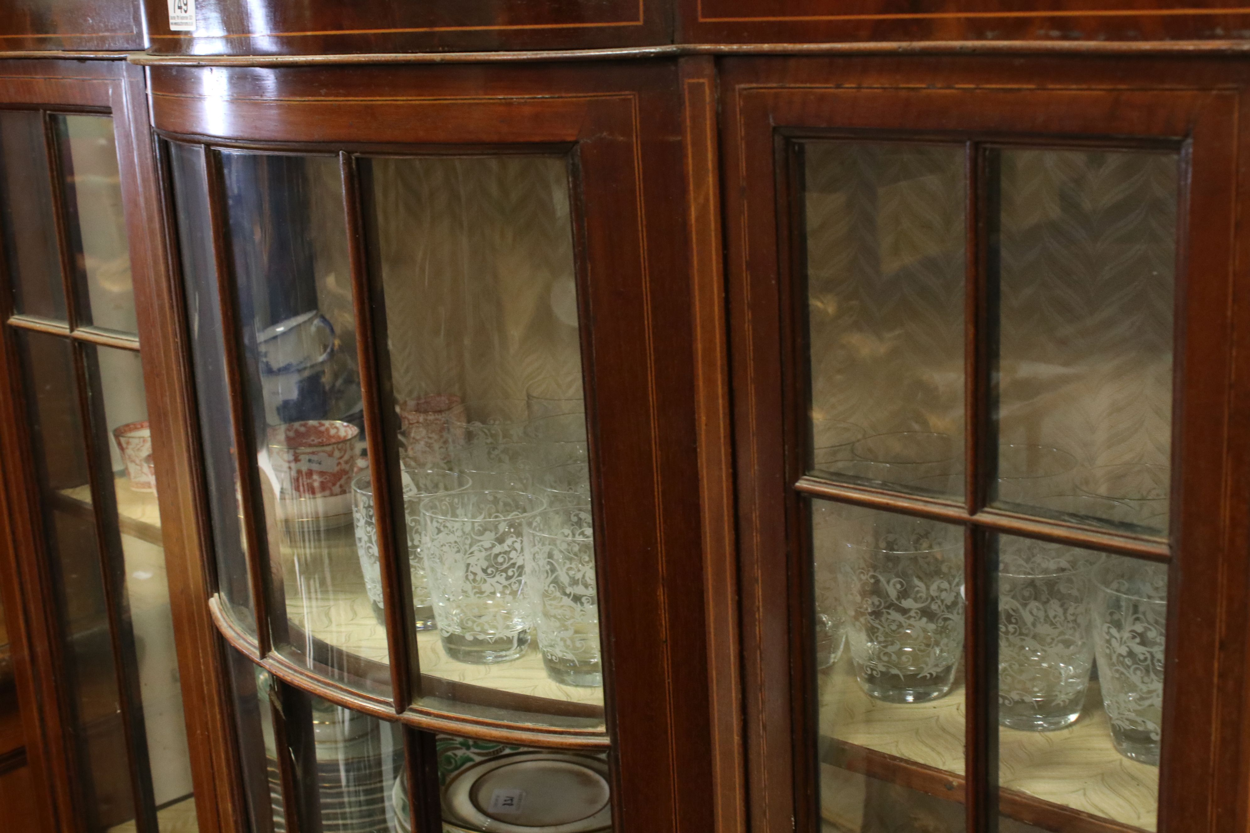 Edwardian Mahogany Inlaid Display Cabinet, 114cms wide x 153cms high - Image 3 of 5