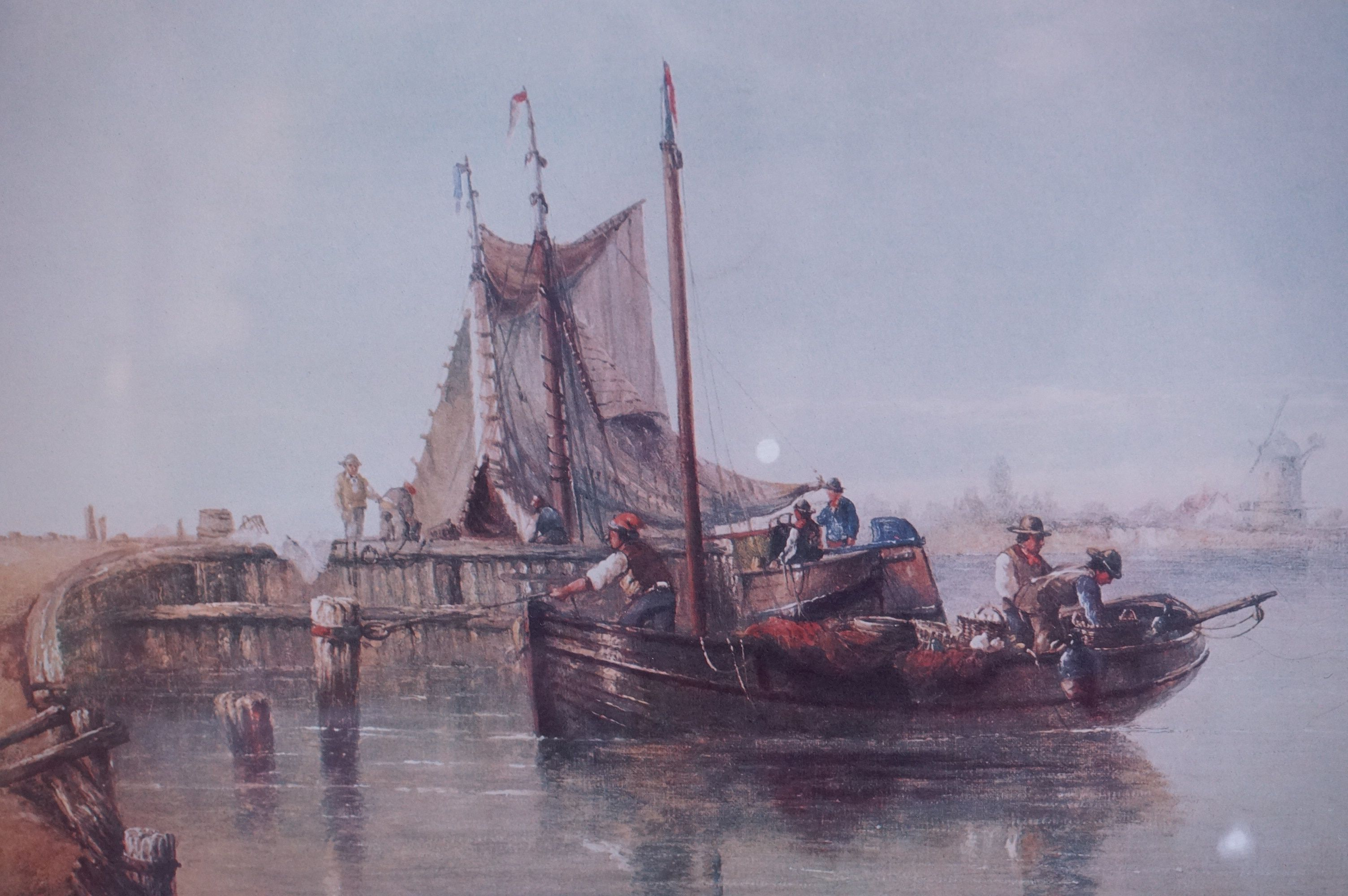 Four Large Framed and Glazed Sailing Ship Prints including Roger Desoutter ' Hove -to off the - Image 9 of 11