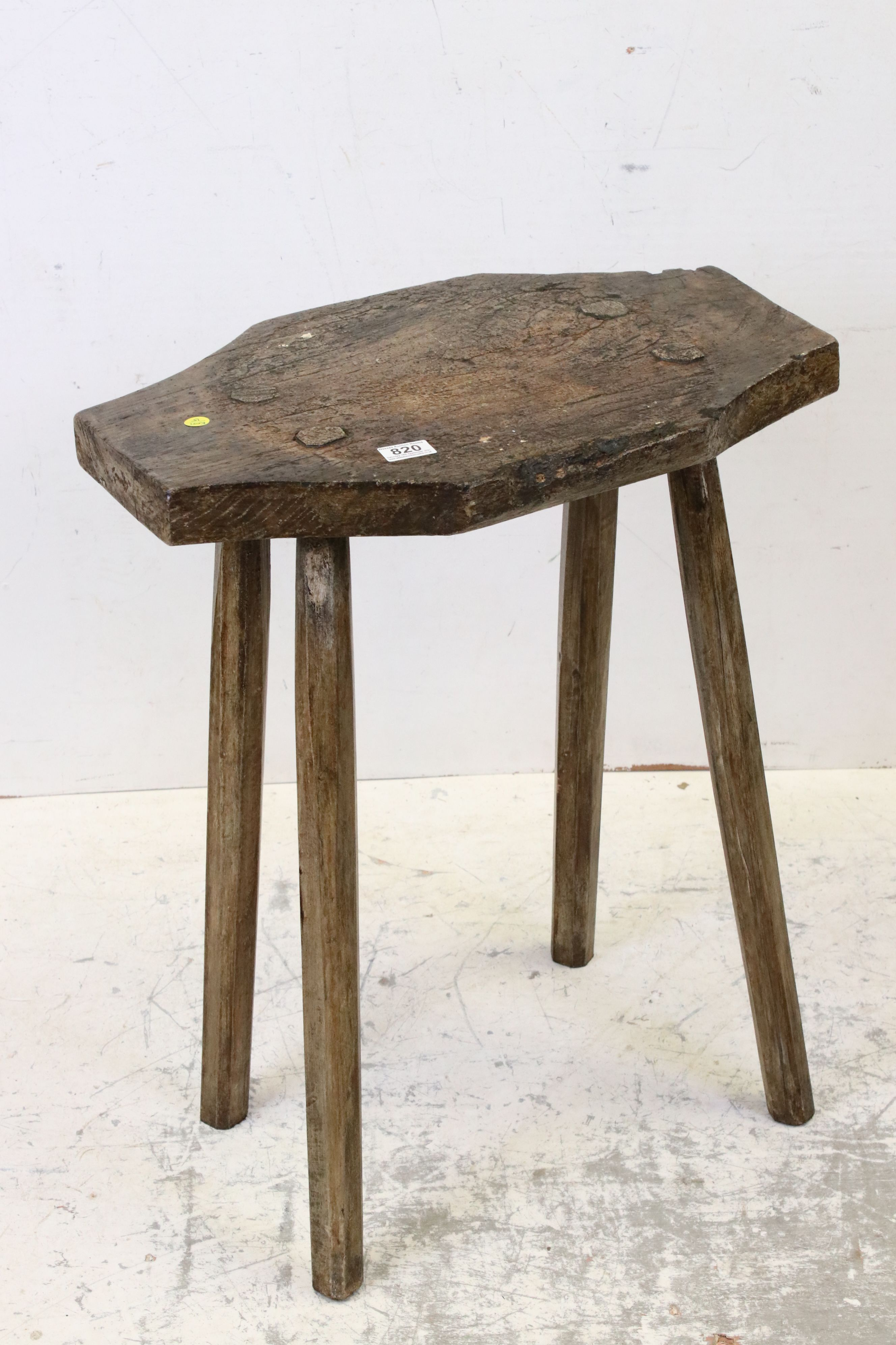 Antique elm rustic preparation table