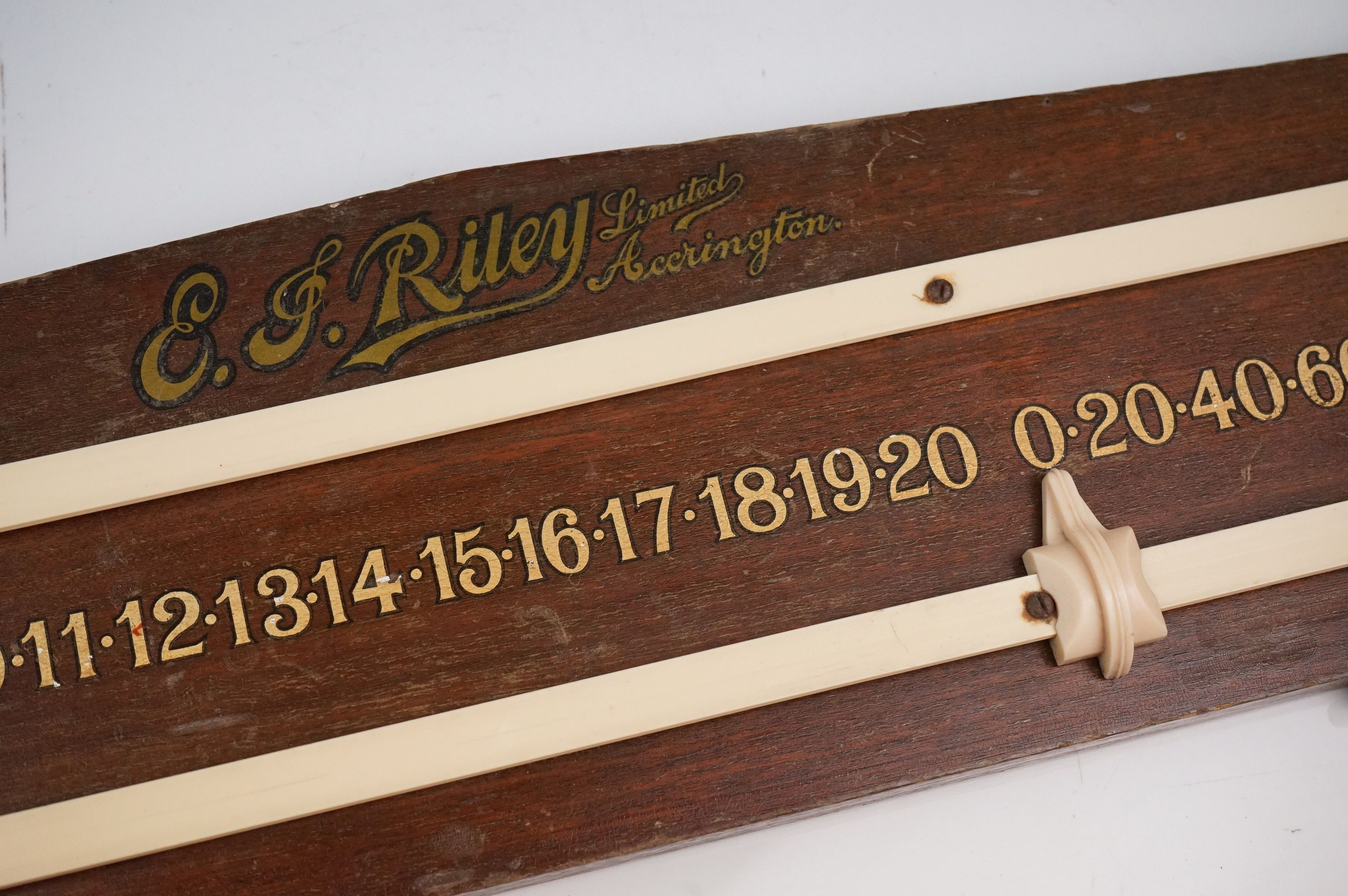 A vintage Riley snooker / billiards score board together with two boxed sets of boules. - Image 4 of 4