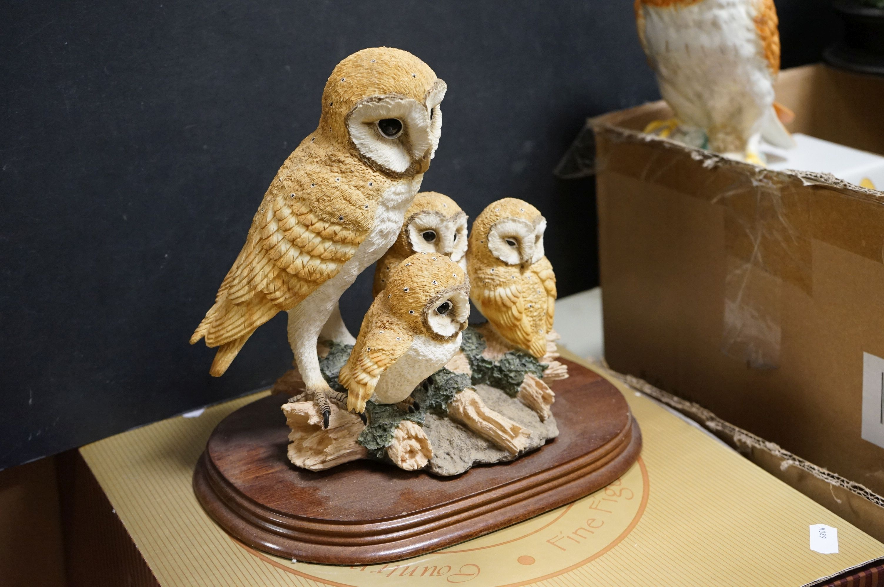A very large collection of boxed and loose owl ornaments to include the Leonardo Collection and a - Image 2 of 8
