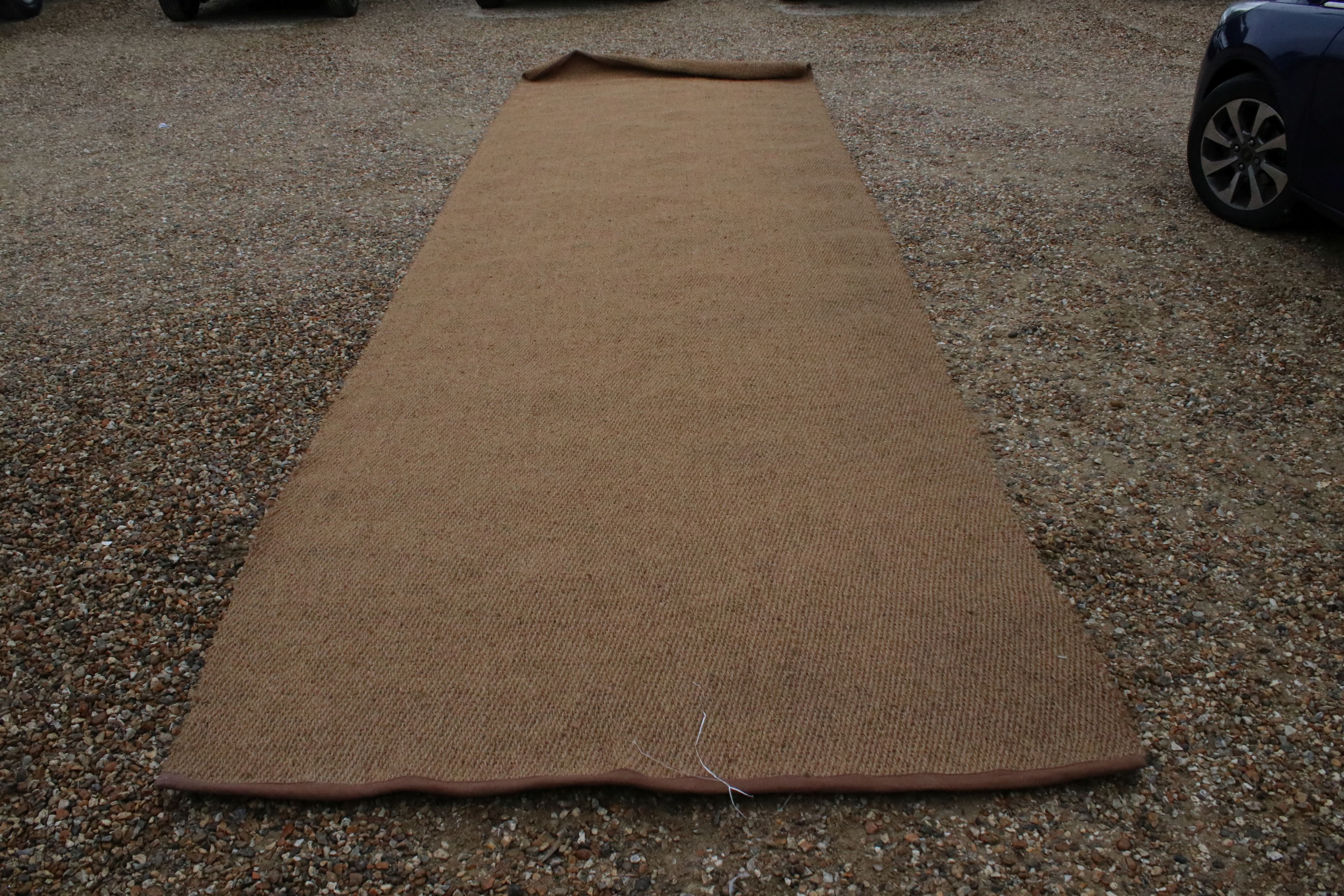 Large coconut mat runner, approx. 20' x 6' (unused)