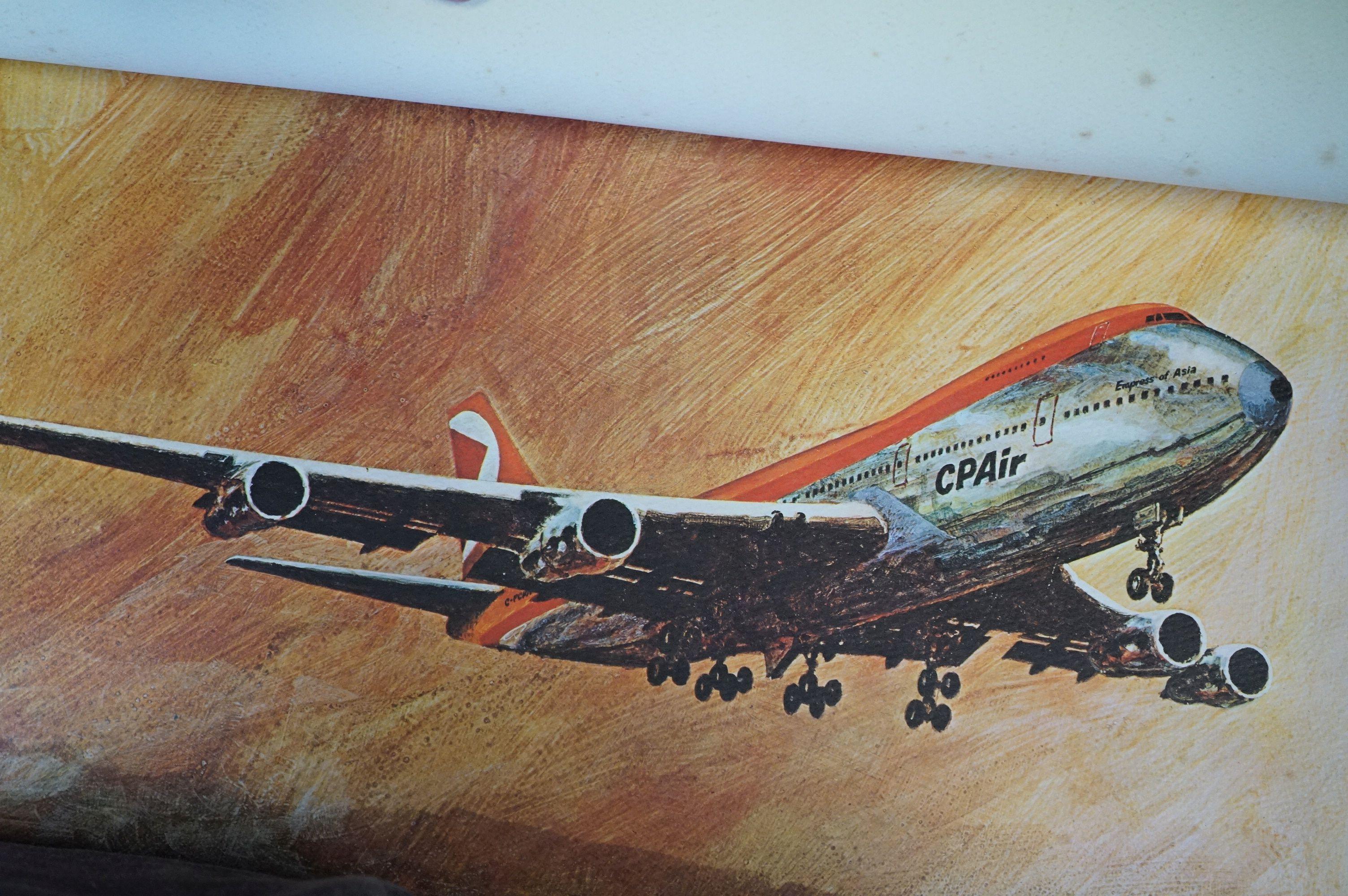 Set of Twelve Prints of CP Air Airplanes taken from paintings of West Coast Artist Robert Banks - Image 3 of 4