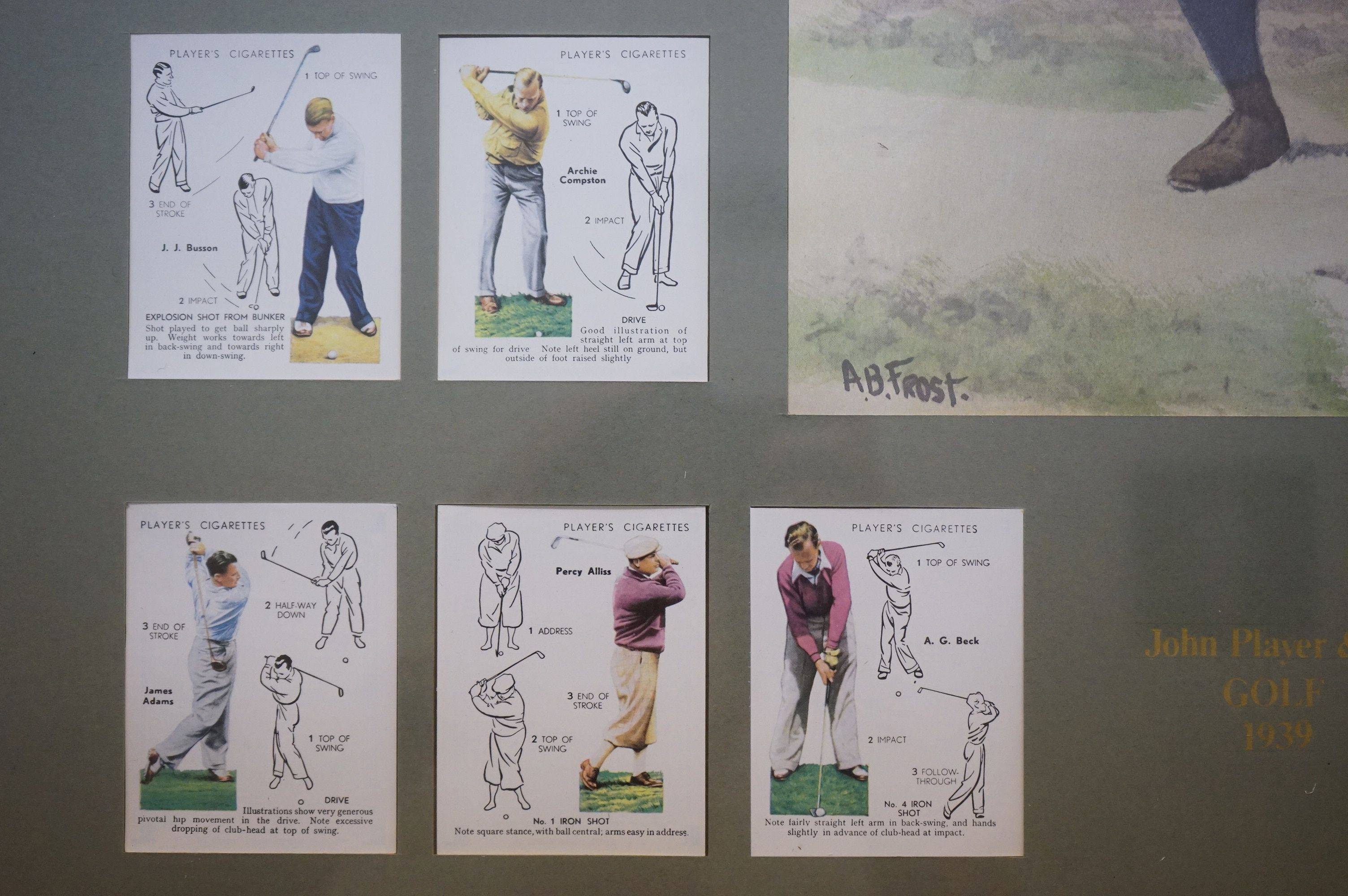 Golf - a John Player commemorative picture portraying famous golfers and their play methods - Image 3 of 6