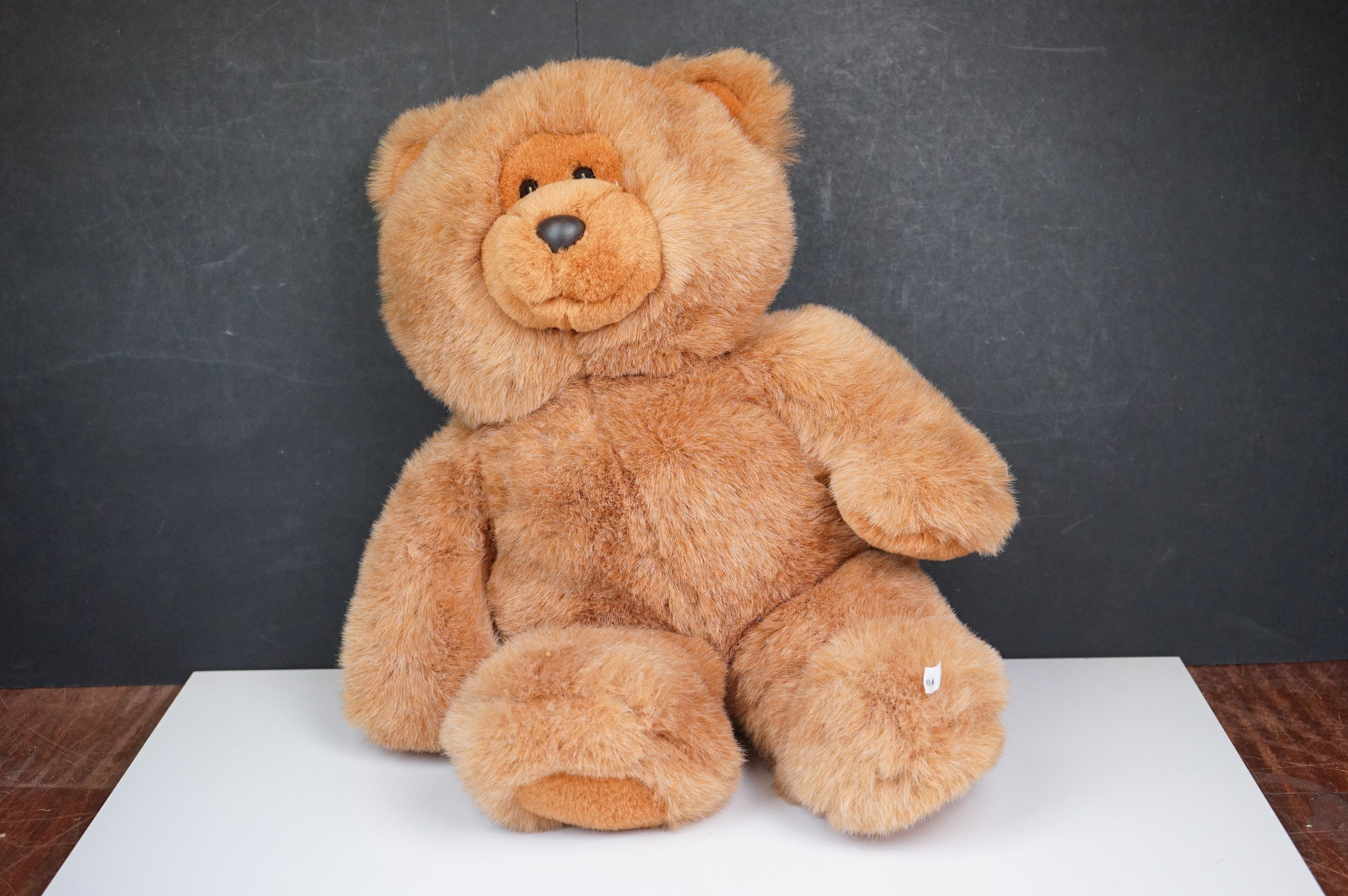 Steiff Teddy Bear, Two Merrythoughts Teddy Bears with Burgundy & Gold Ribbons to neck plus one - Image 2 of 8