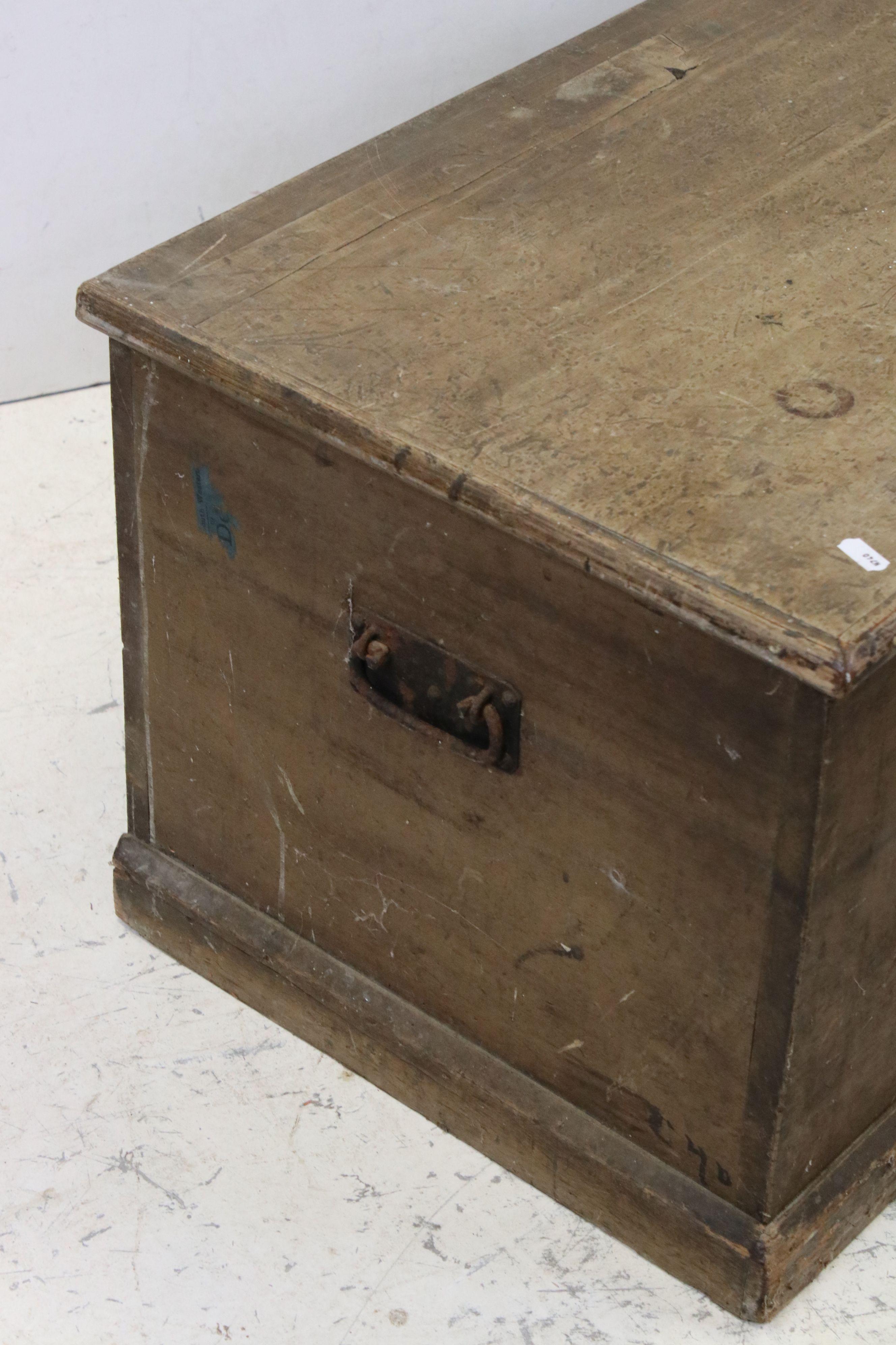 19th century Pine Blanket Box, 82cms long x 42cms high - Image 2 of 5