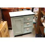 1950s kitchen work unit with three drawers & single cupboard