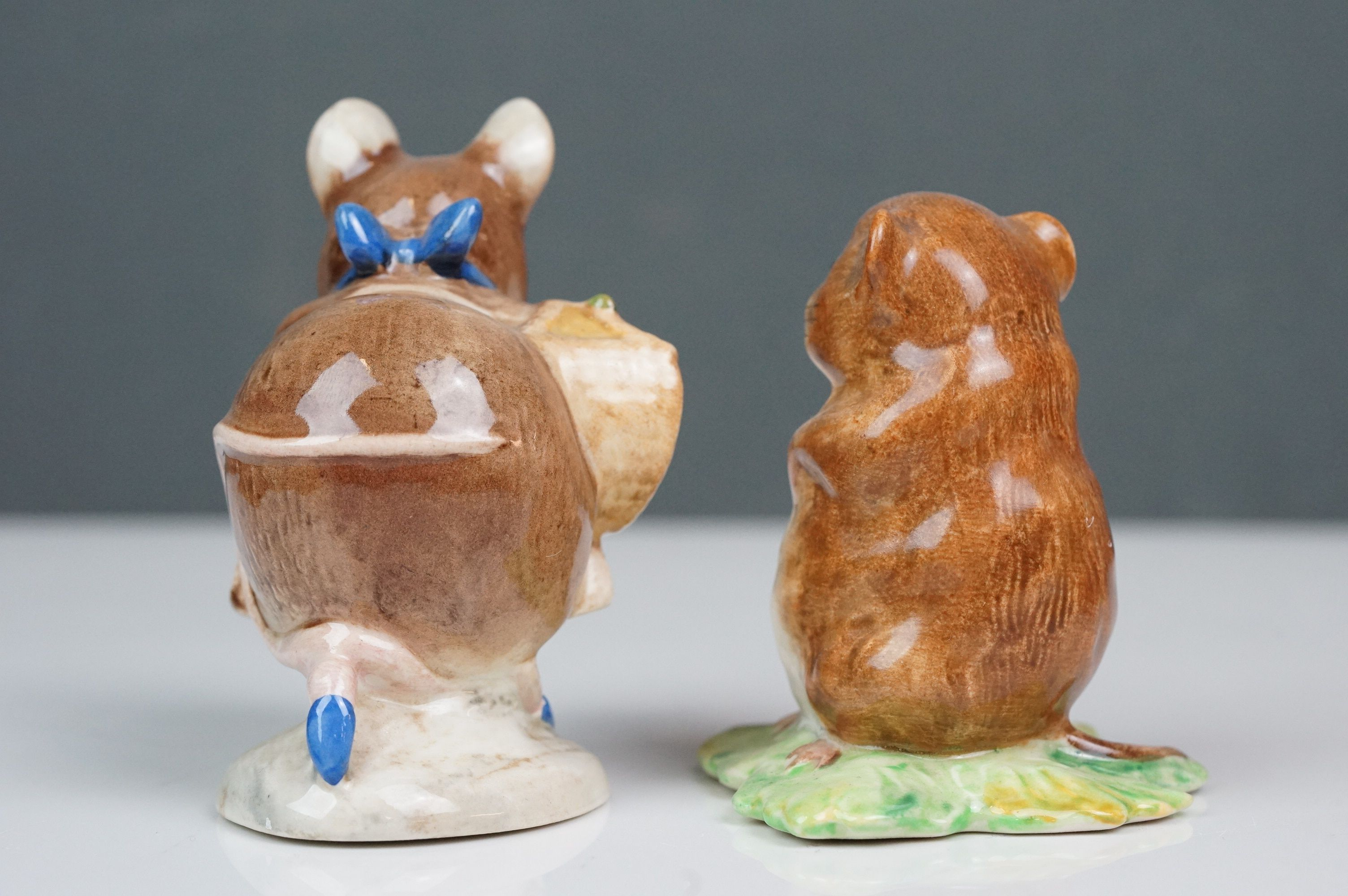 Eight Beswick Beatrix Potter figures comprising Appley Dapply; Timmy Willie; Peter Rabbit; Samuel - Image 3 of 13