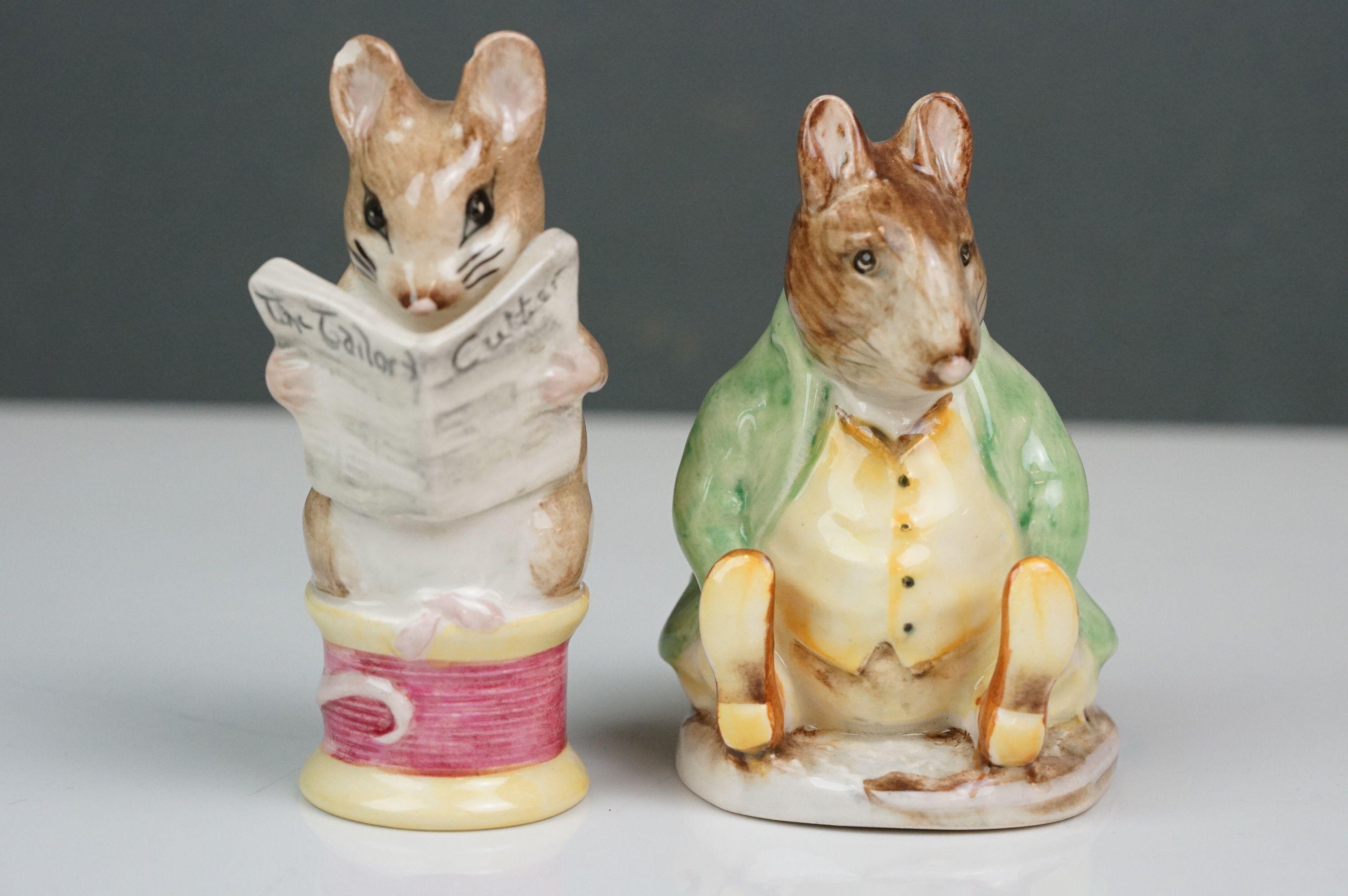 Eight Beswick Beatrix Potter figures comprising Appley Dapply; Timmy Willie; Peter Rabbit; Samuel - Image 5 of 13