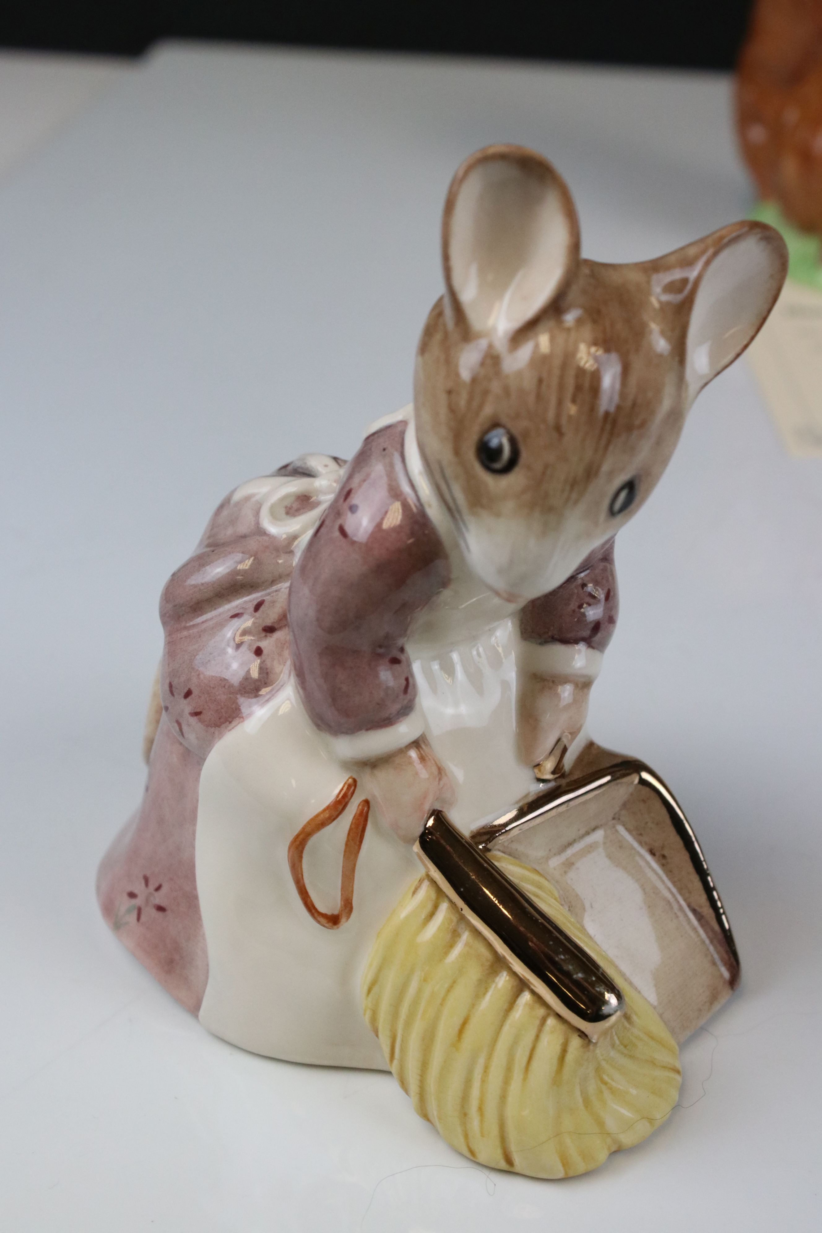 Two Pairs of Beswick Ware Gold Script Large Beatrix Potter Figures, ' Mrs Rabbit & Foxy Whiskered - Image 2 of 12