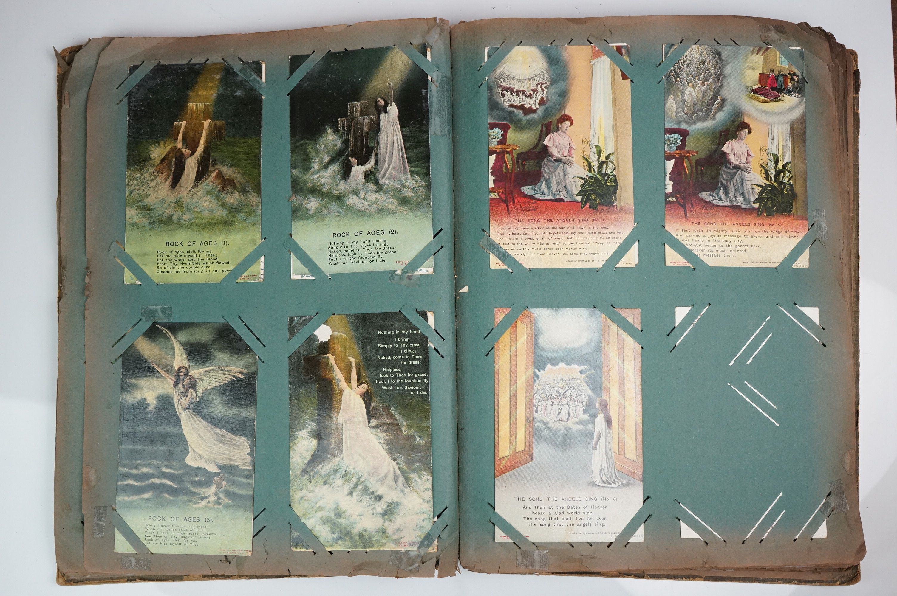 A large collection of early 20th century postcards contained within an album, mainly printed - Image 3 of 11