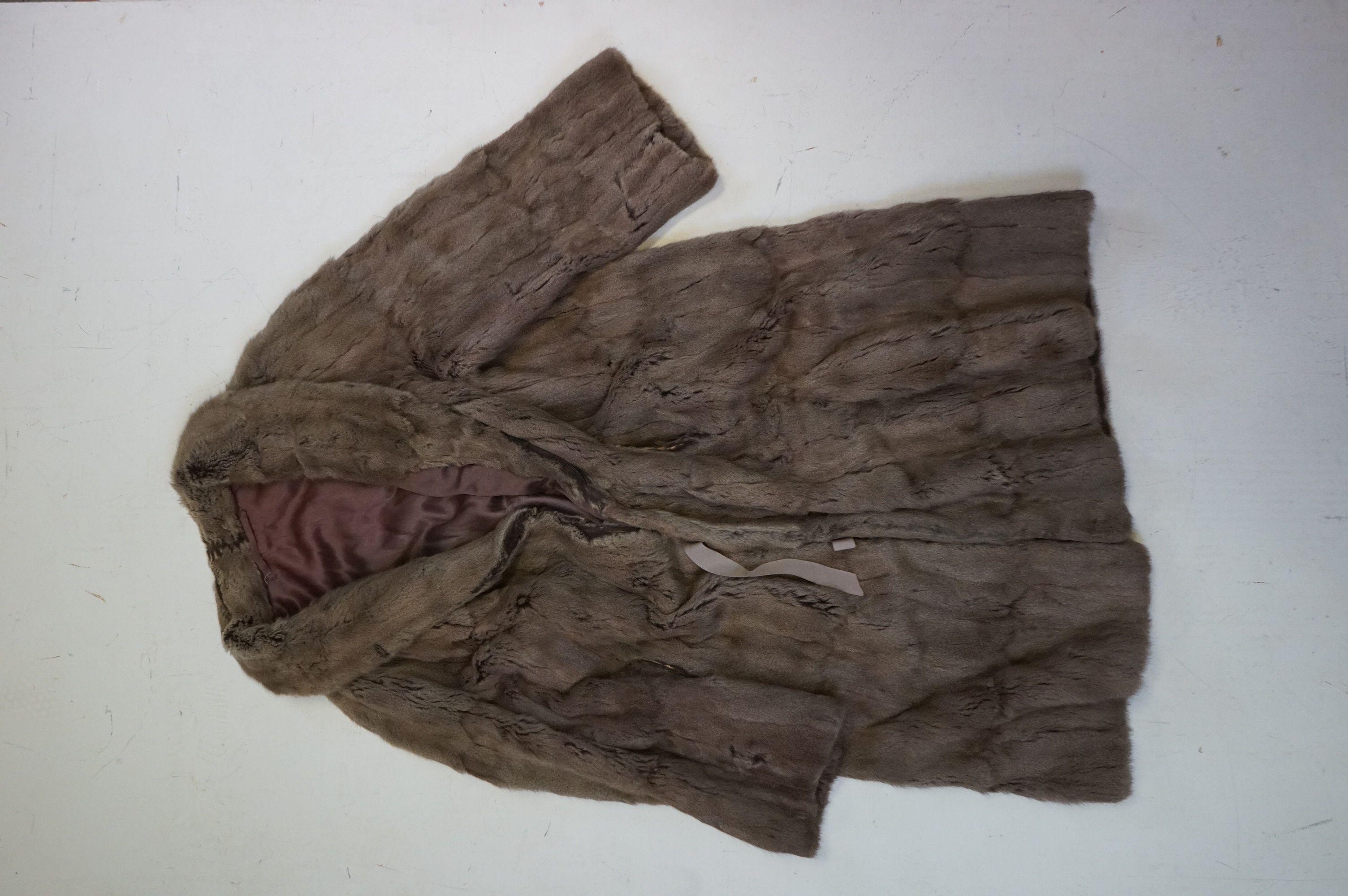 A vintage half length fur coat