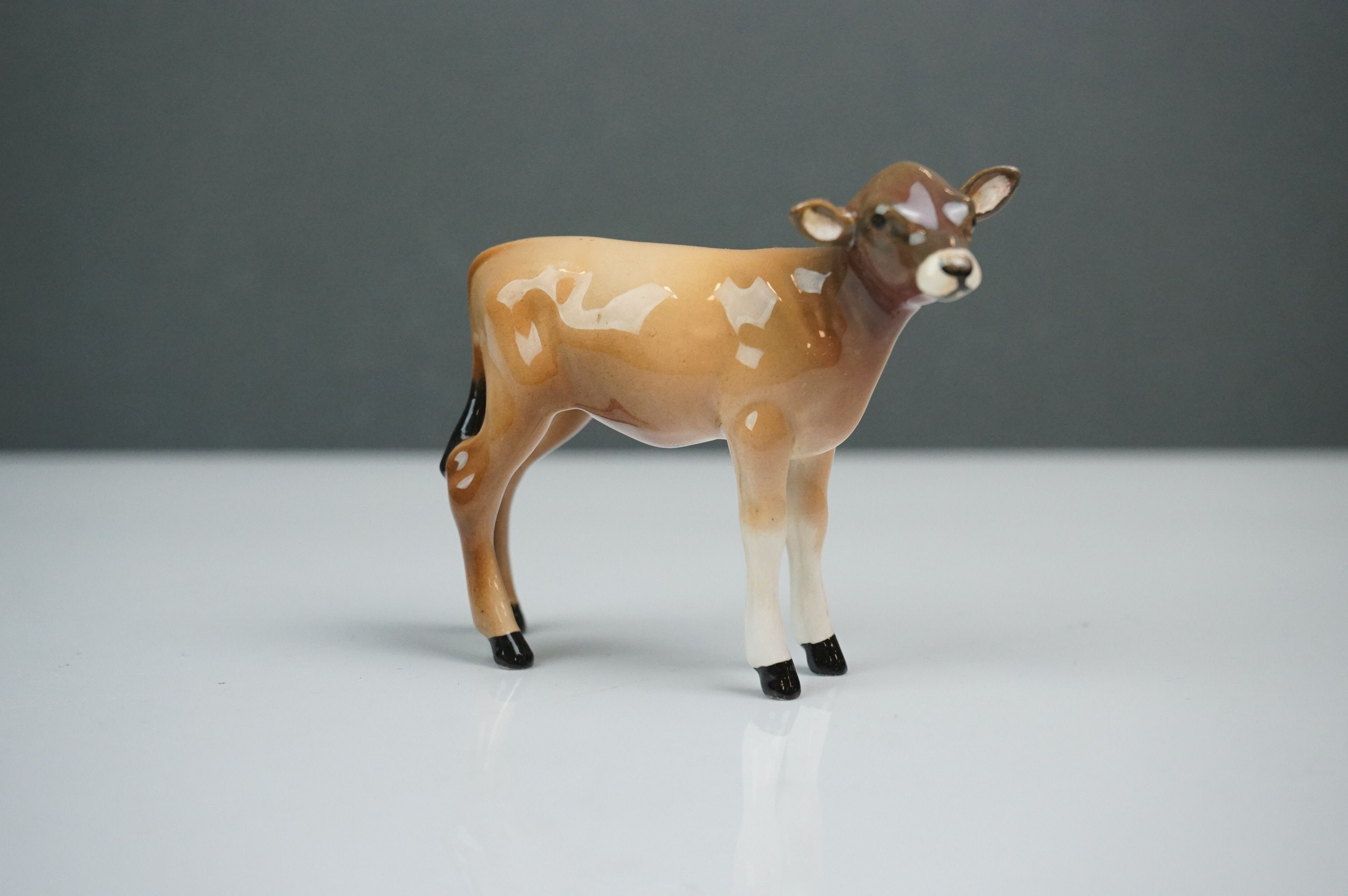 Beswick Jersey Family including Jersey Bull Ch. Dunsley Coy Boy (no.1422), Jersey Cow Ch. Newton - Image 8 of 10