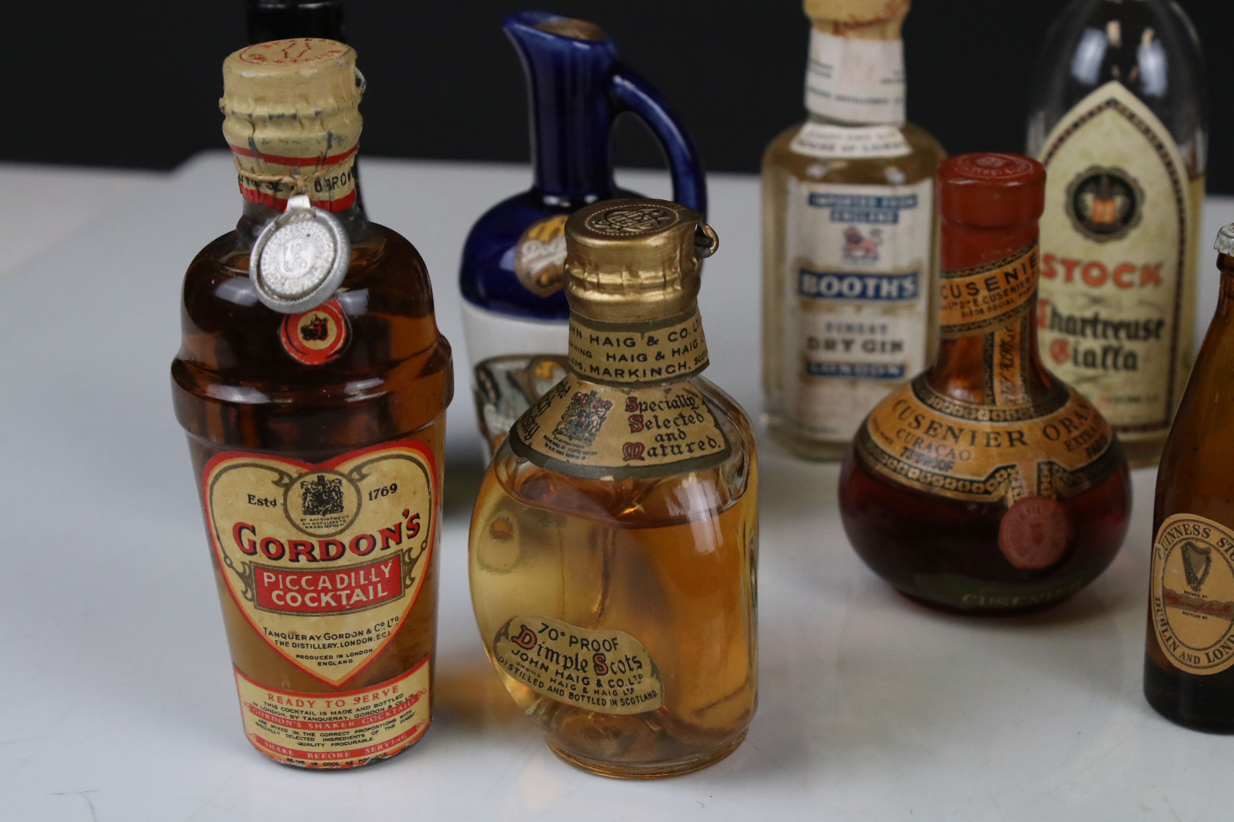 Collection of Miniature Spirits including Dimple Whisky plus Three Glass Bottles in the form of - Image 6 of 9