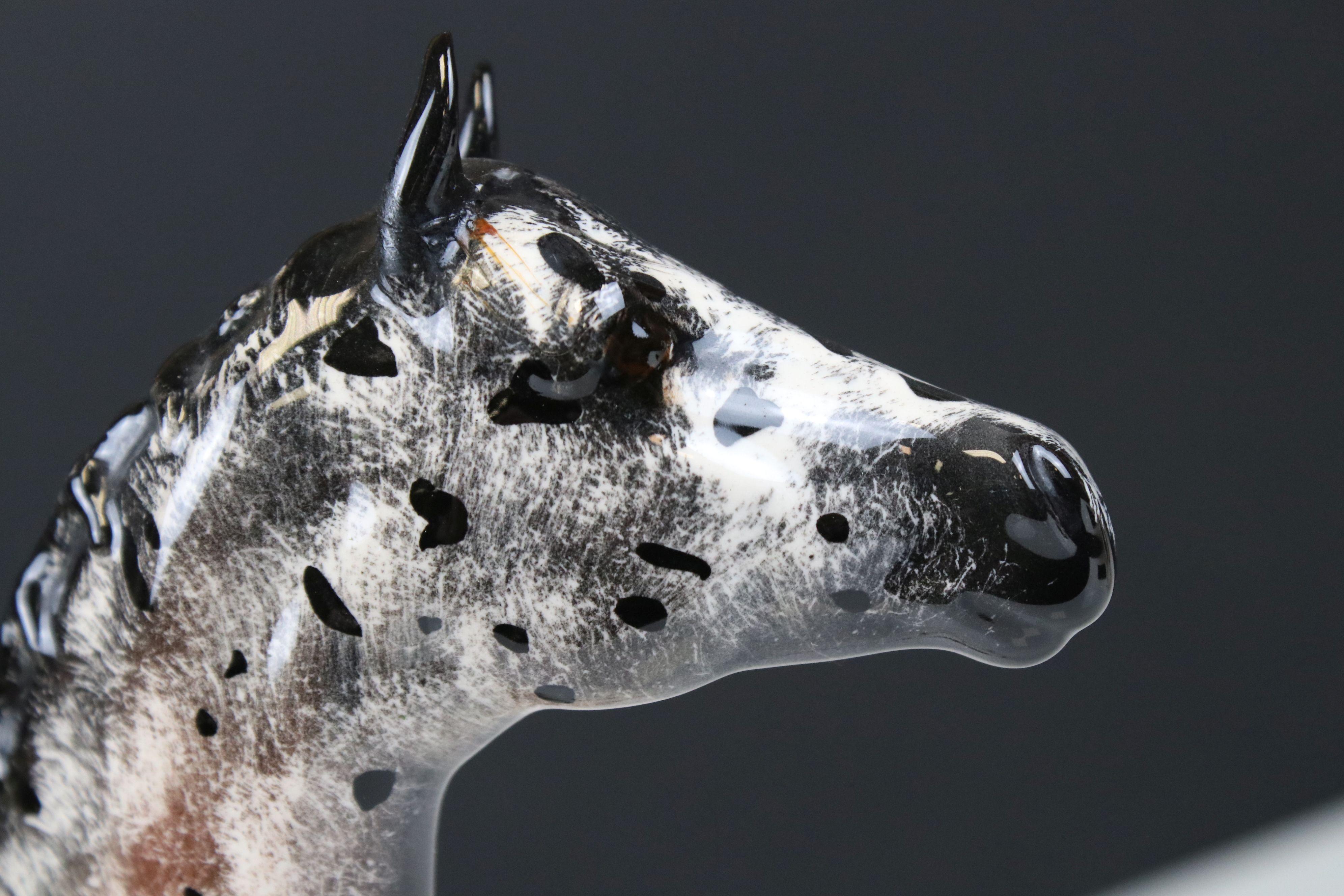 Beswick Skewbald Pinto Pony (first version) (no. 1373) together with a Beswick Appaloosa Stallion ( - Image 10 of 12