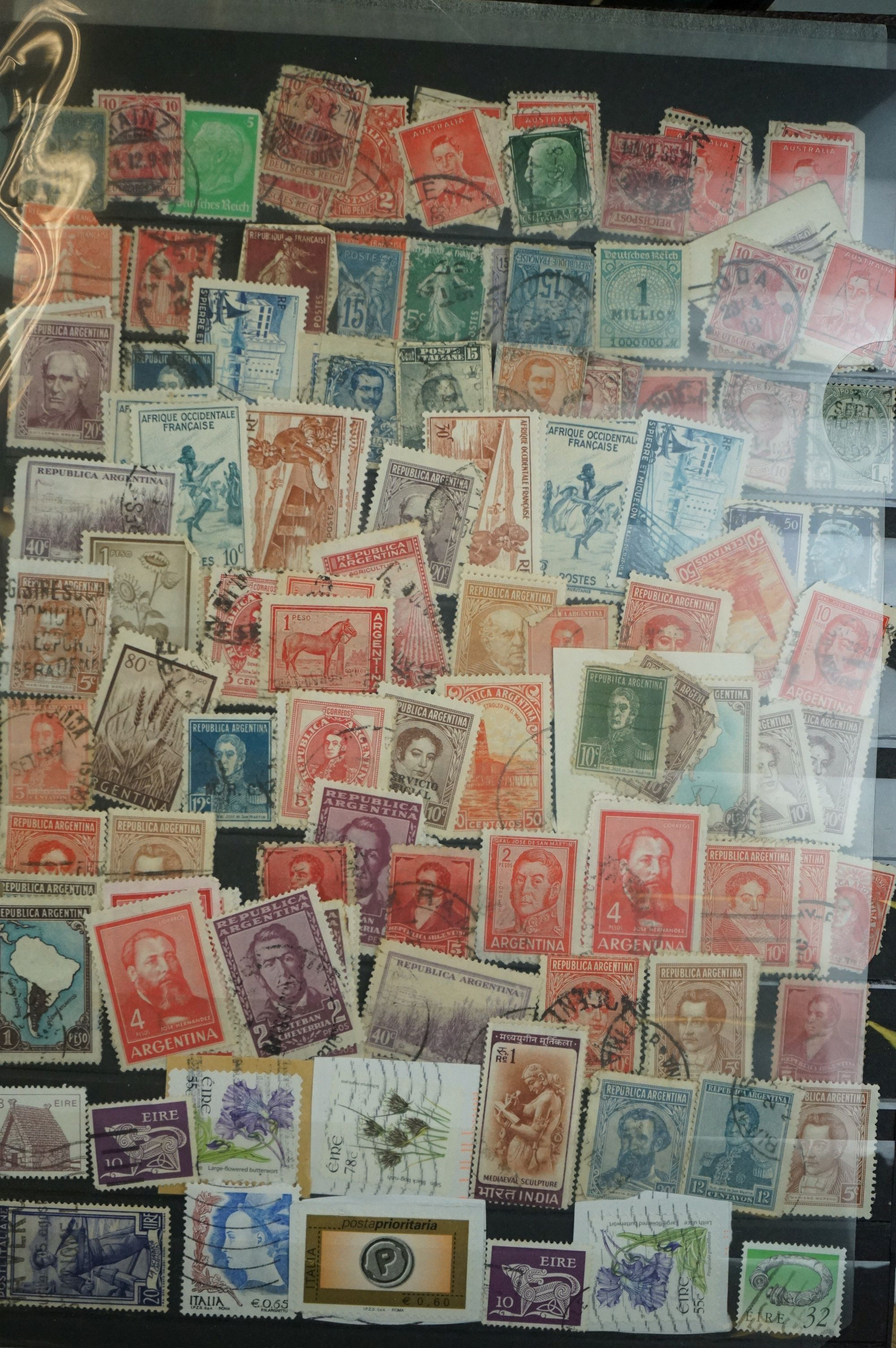 A large collection of British, Commonwealth and world stamps contained within albums. - Image 2 of 7