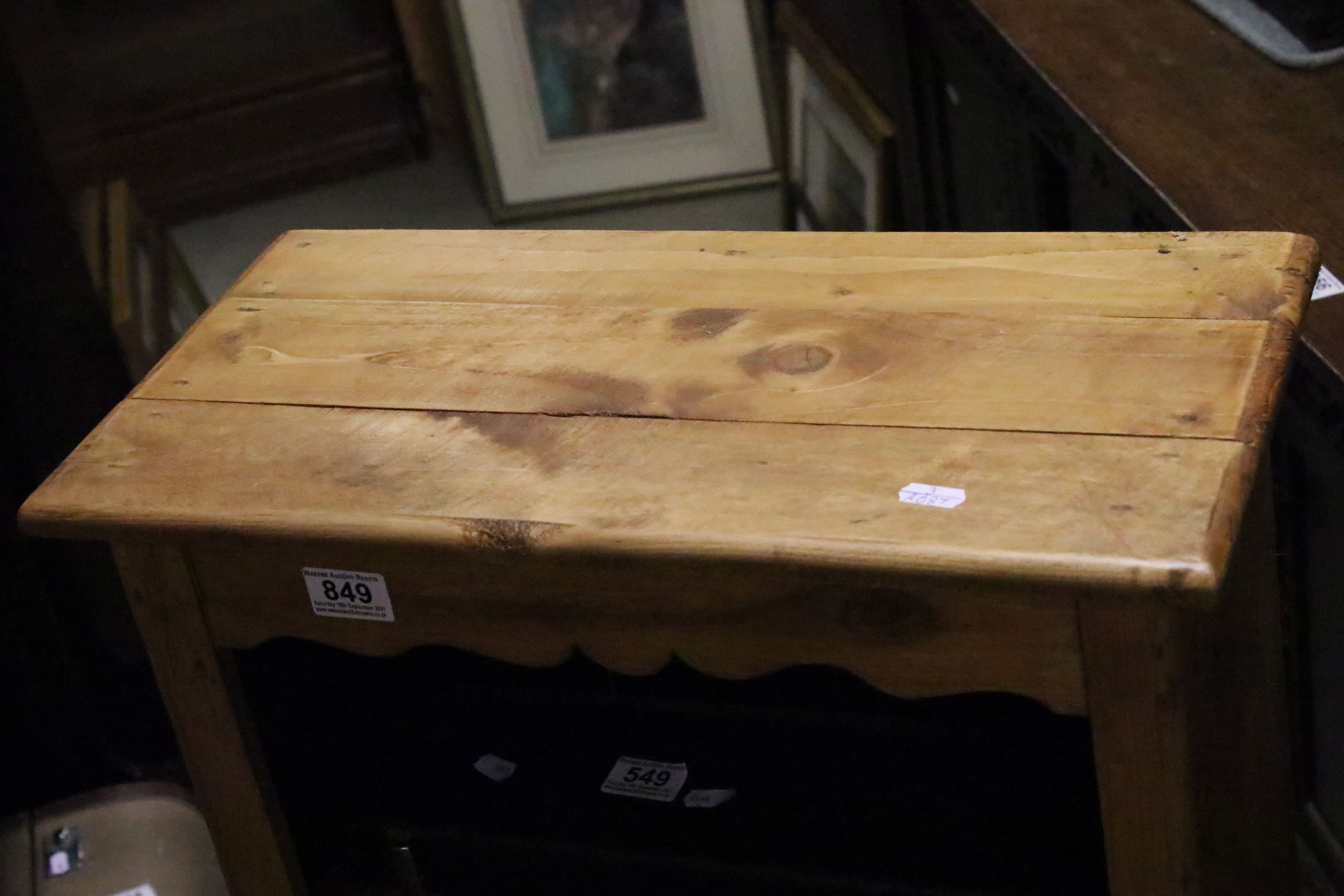 Tall pine bookcase - Image 2 of 4