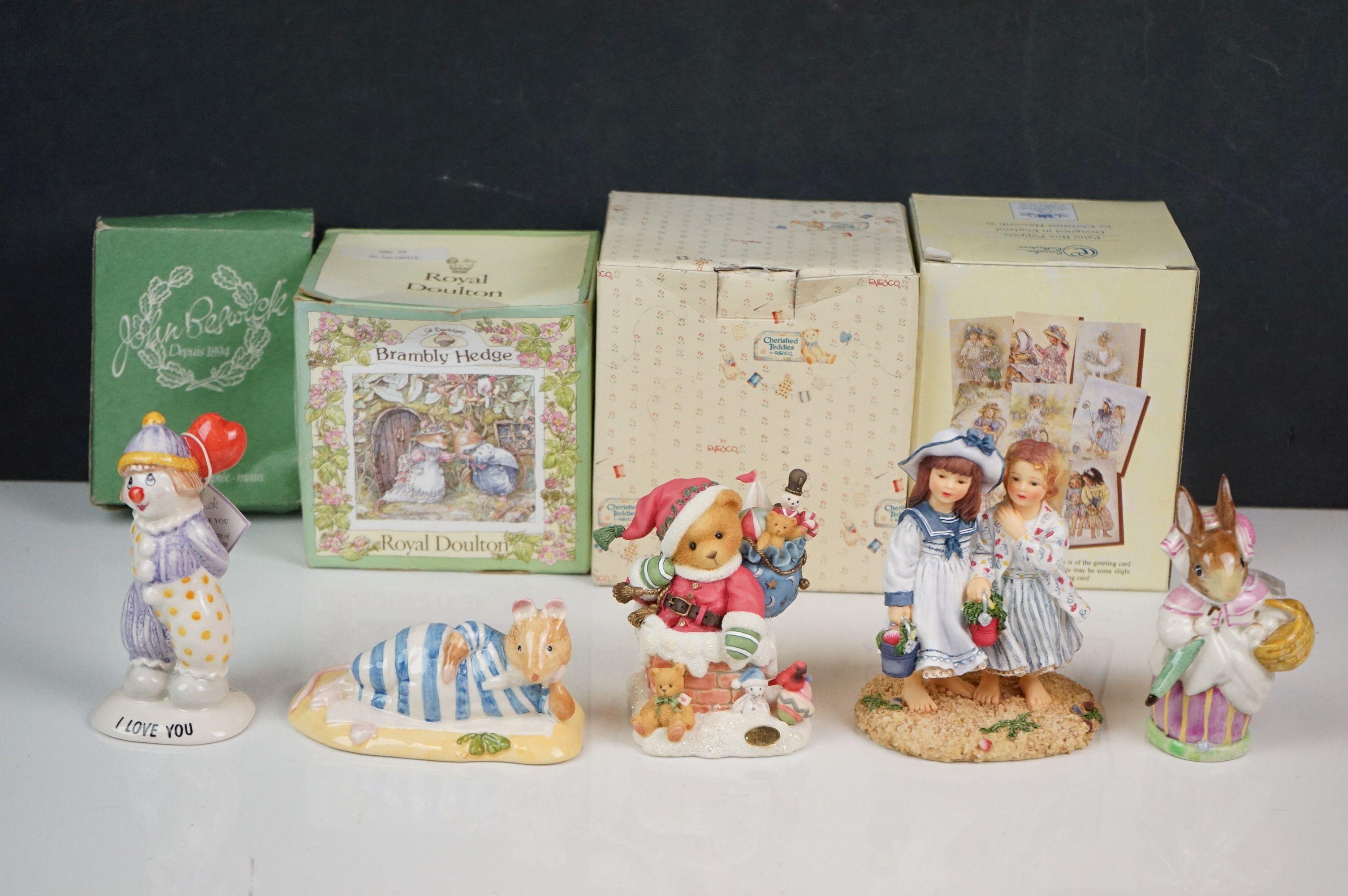 Five ceramic figures, to include Royal Doulton Mr Saltapple, Beswick Mrs Rabbit etc