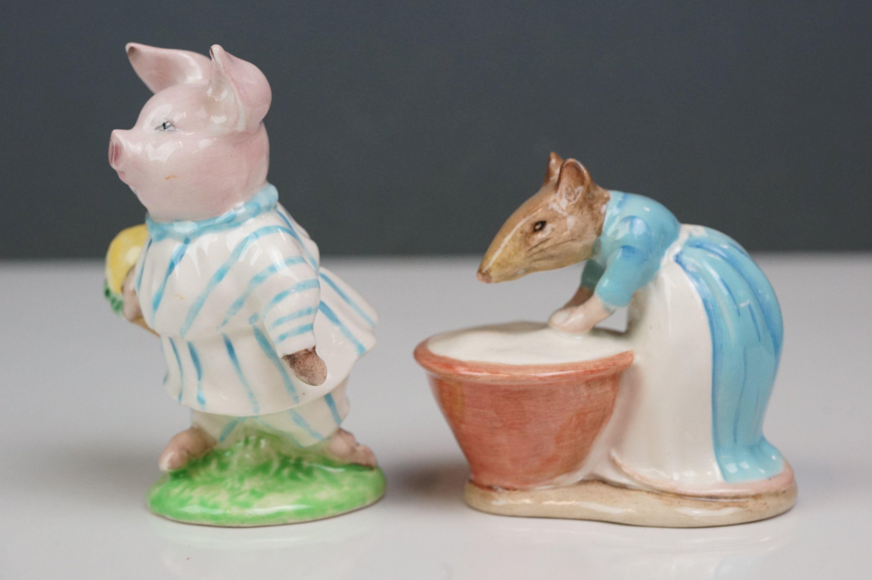 Eight Beswick Beatrix Potter figures comprising Appley Dapply; Timmy Willie; Peter Rabbit; Samuel - Image 12 of 13