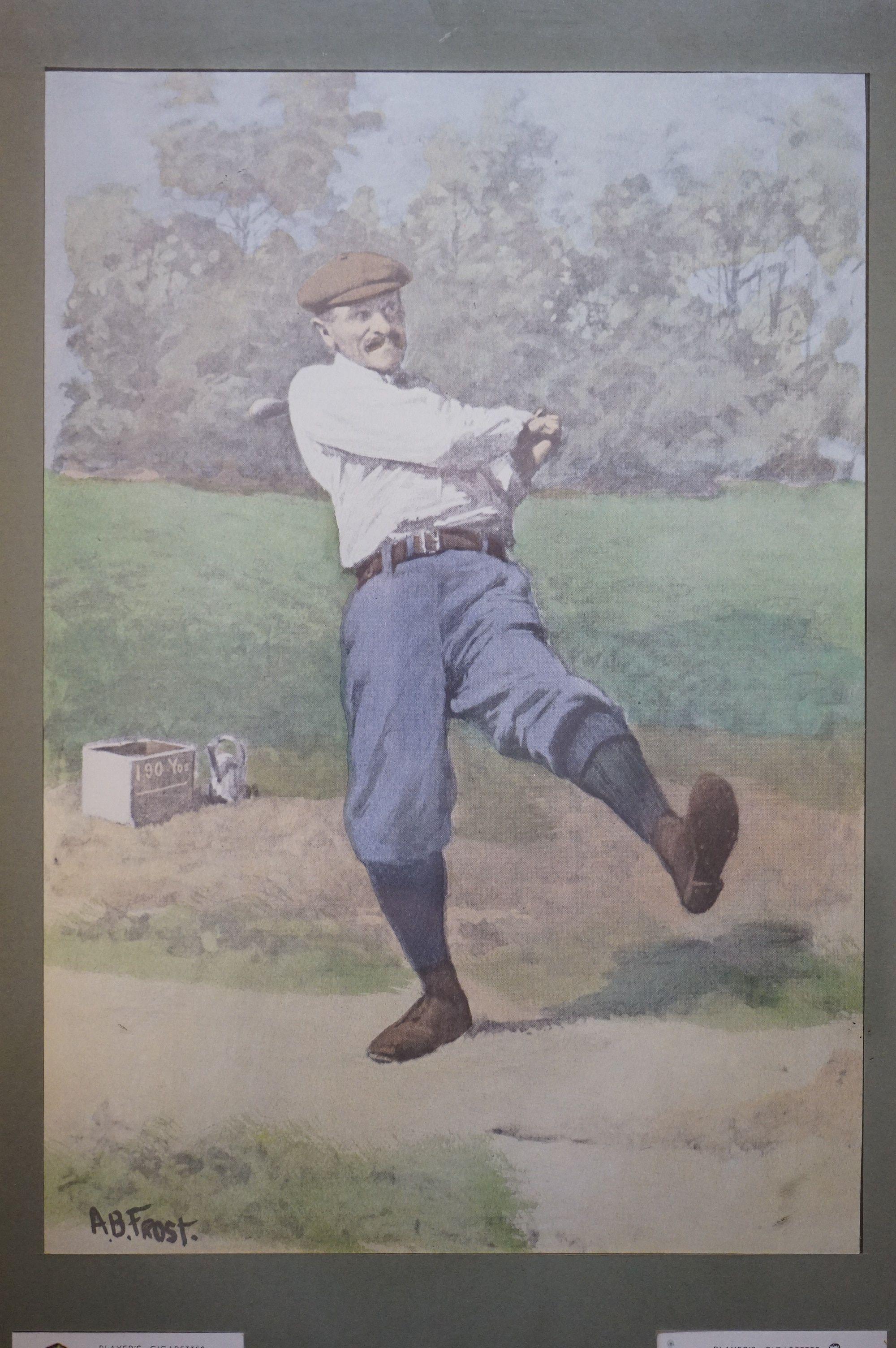 Golf - a John Player commemorative picture portraying famous golfers and their play methods - Image 2 of 6
