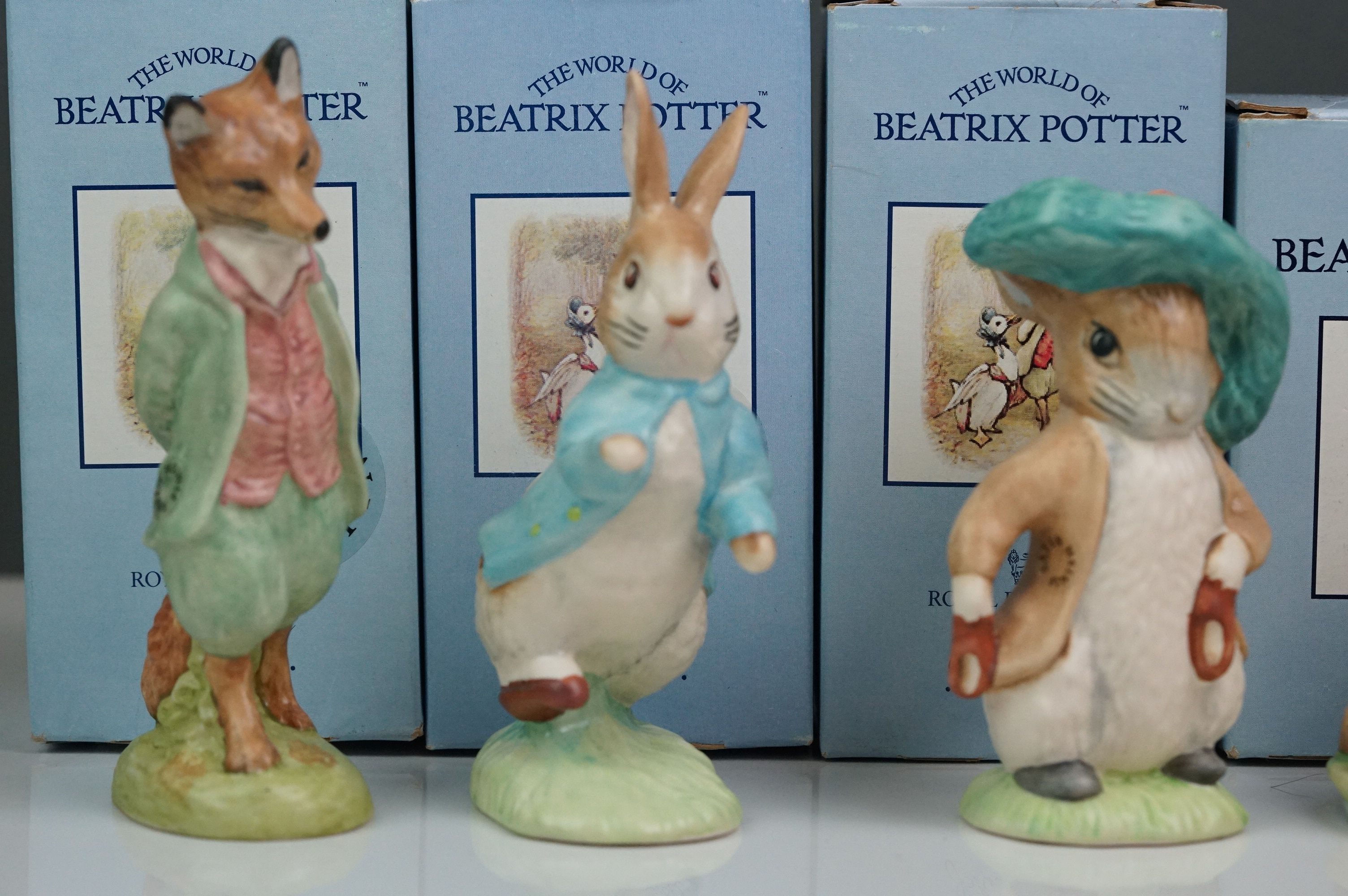 Beswick: the complete set of six satin finish figurines, all with Beswick backstamp 11A; all but one - Image 2 of 11