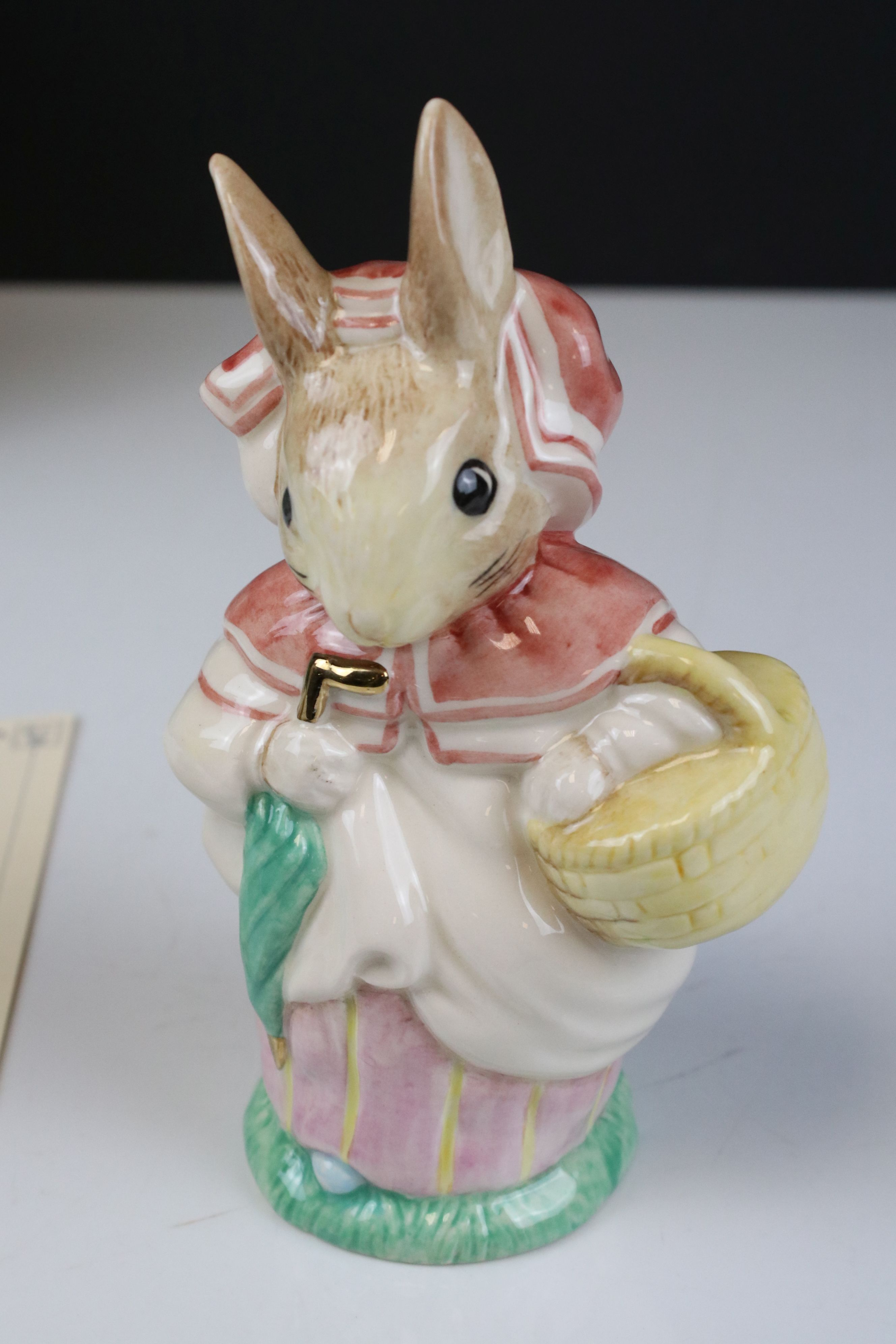 Two Pairs of Beswick Ware Gold Script Large Beatrix Potter Figures, ' Mrs Rabbit & Foxy Whiskered - Image 10 of 12
