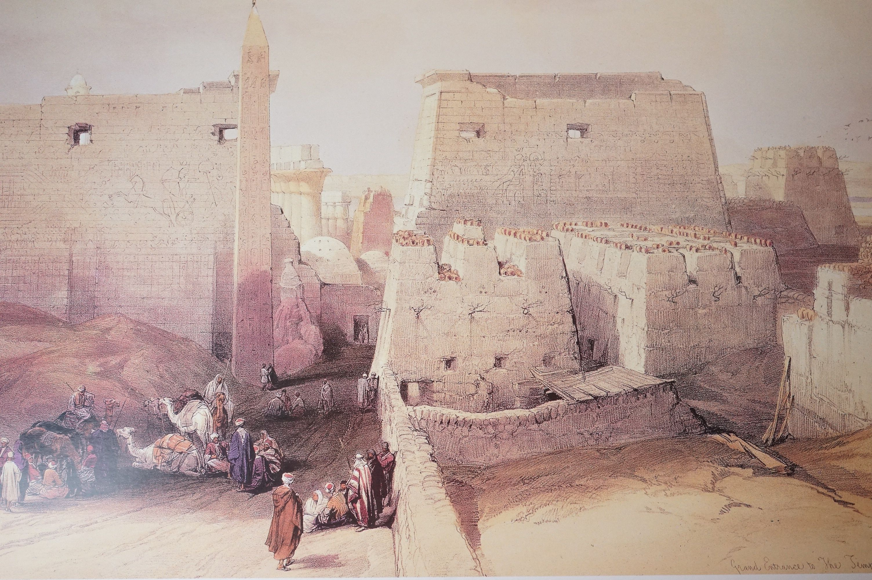 Four Watercolours including Stone Bathhouse, all in matching frames and glazed together with a group - Image 14 of 15