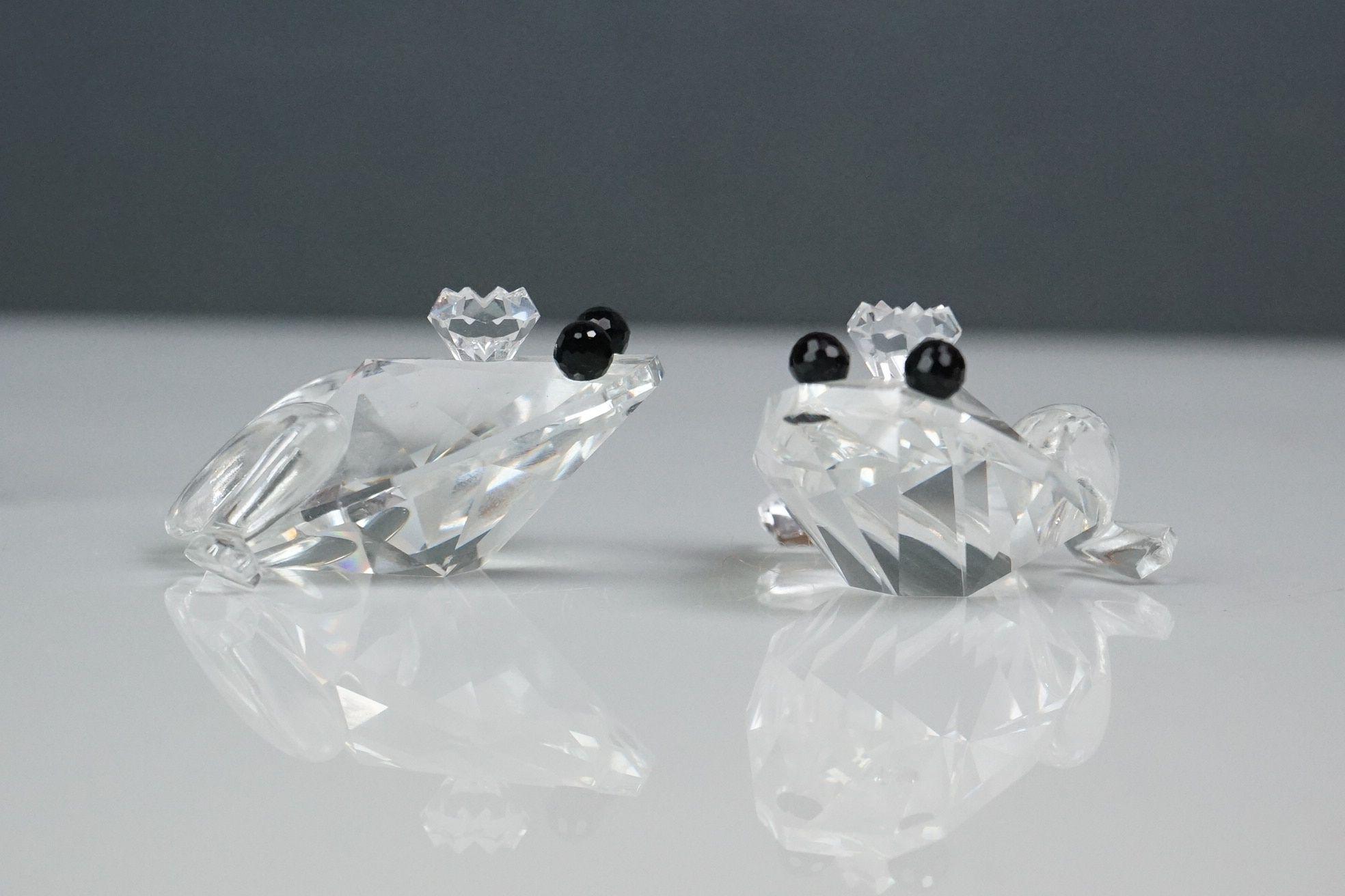 Two Swarovski crystal snails and two Swarovski crystal frogs (2) - Image 3 of 3