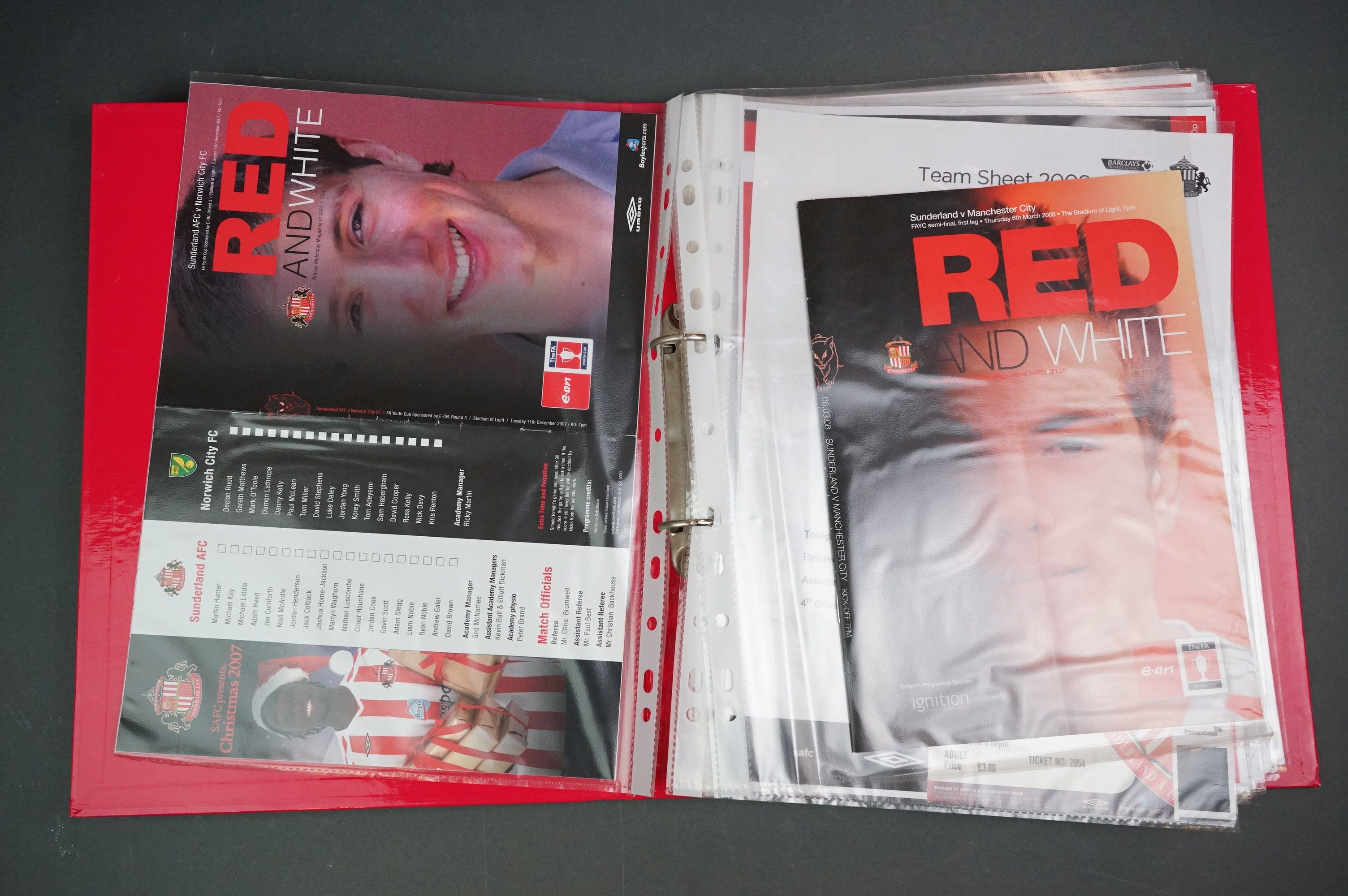 Football - FA Youth Cup 2007-11, a binder containing approx. 45 programmes, mostly single sheets, - Image 2 of 9