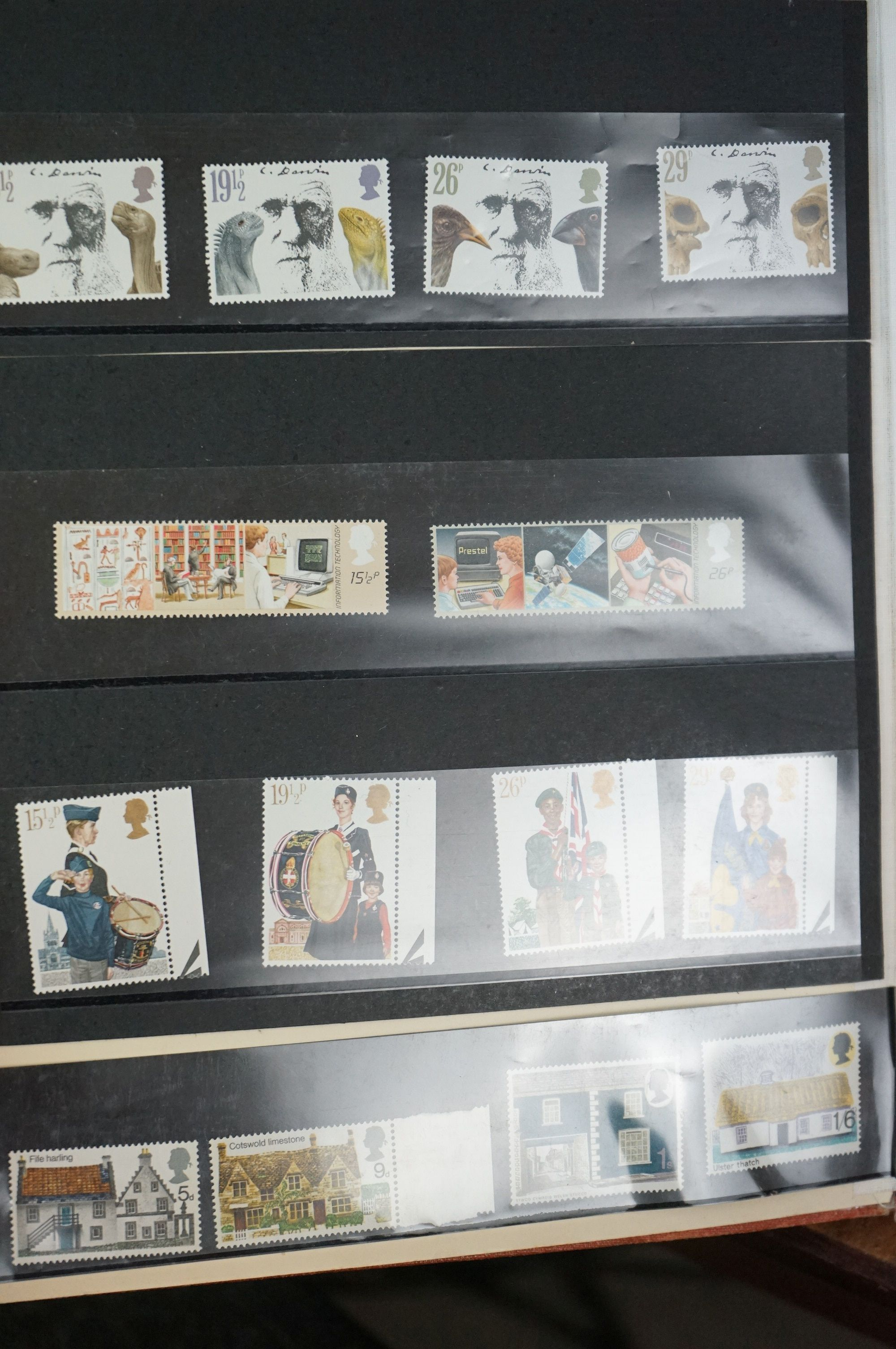 A large collection of British, Commonwealth and world stamps contained within albums. - Image 3 of 7