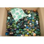 Selection of miscellaneous marbles, to include vintage