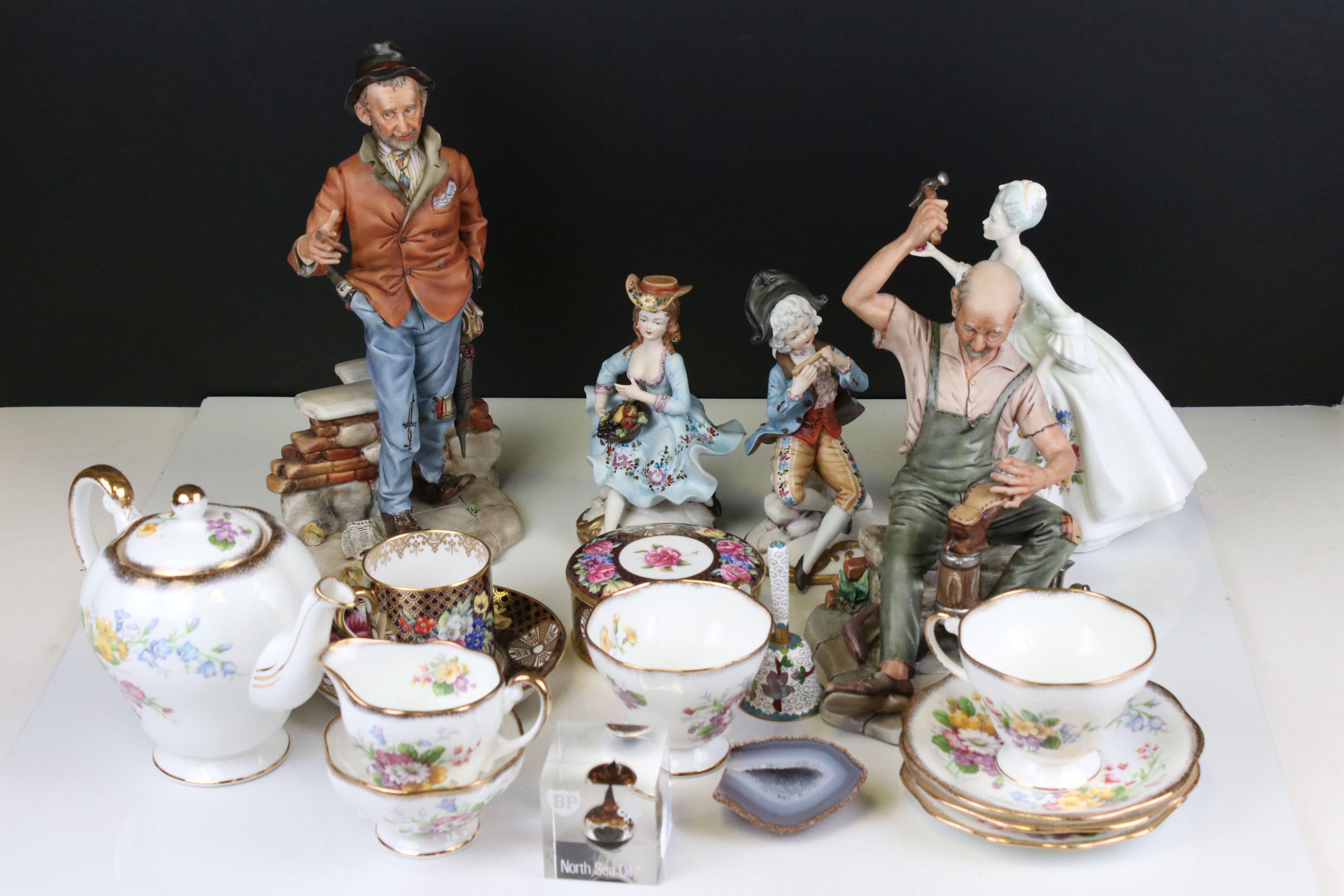 Mixed lot of Ceramics including Four Capodimonte Figures, Royal Doulton ' Diana ' Figurine, Spode