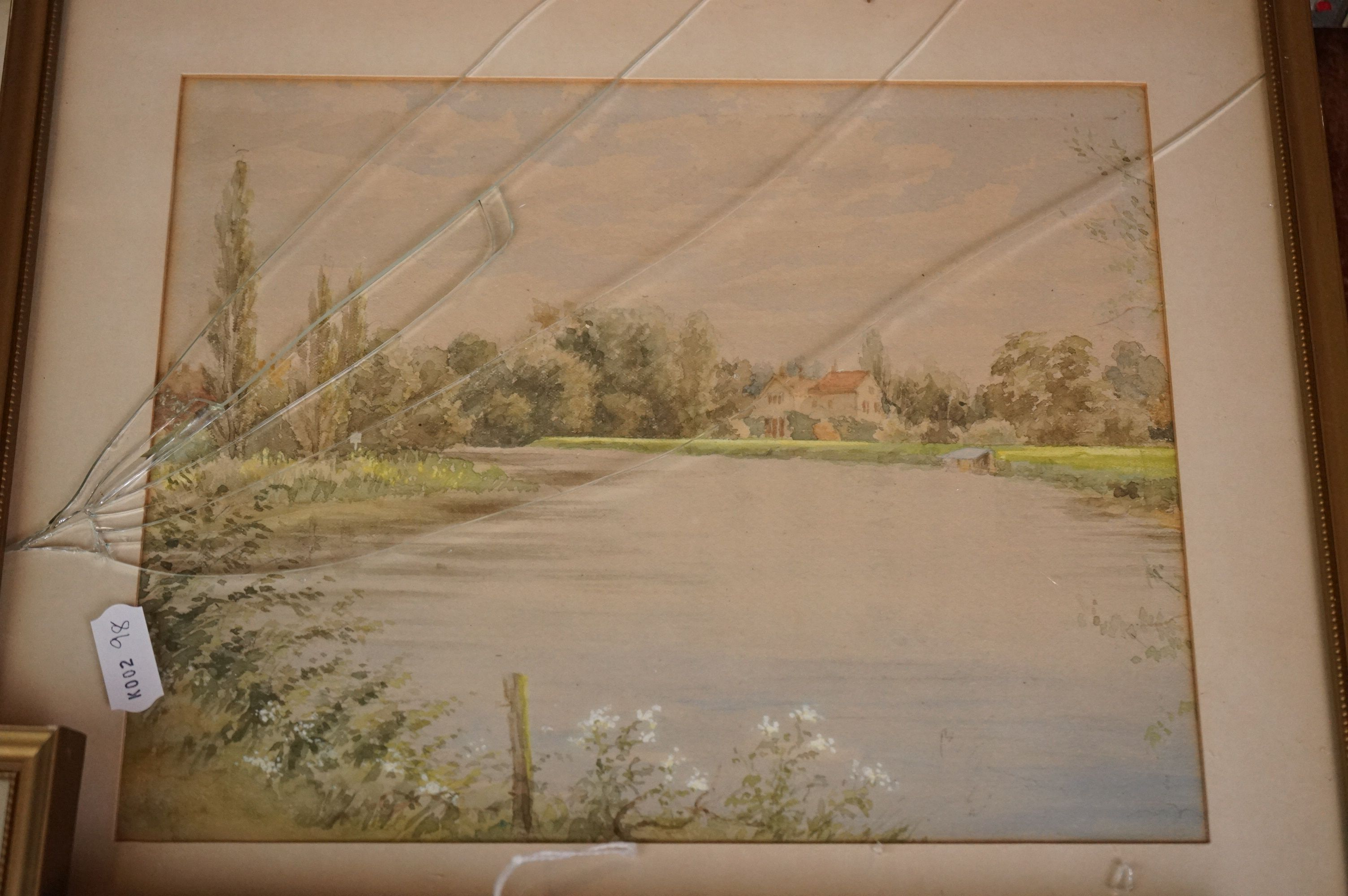 Four Watercolours including Stone Bathhouse, all in matching frames and glazed together with a group - Image 2 of 15