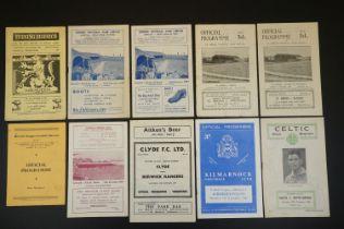 10 1950s Scottish football programmes to include Celtic v Raith Rovers 20th October 1956, Raith v