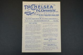 1908/09 Chelsea v Croydon Common 6th March 1909 / Swindon Town 8th March 1909 in SEL football